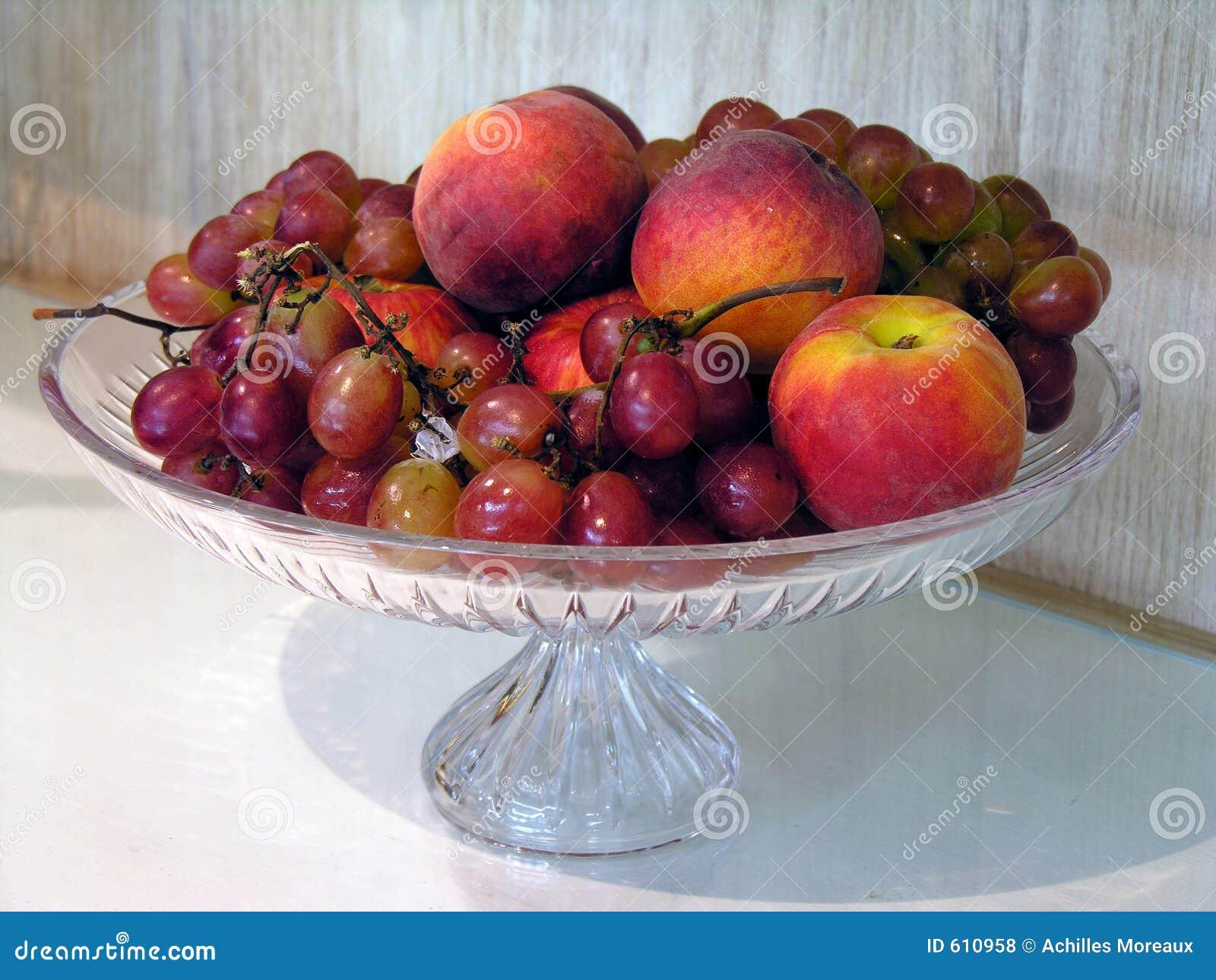 De kommen van het fruit