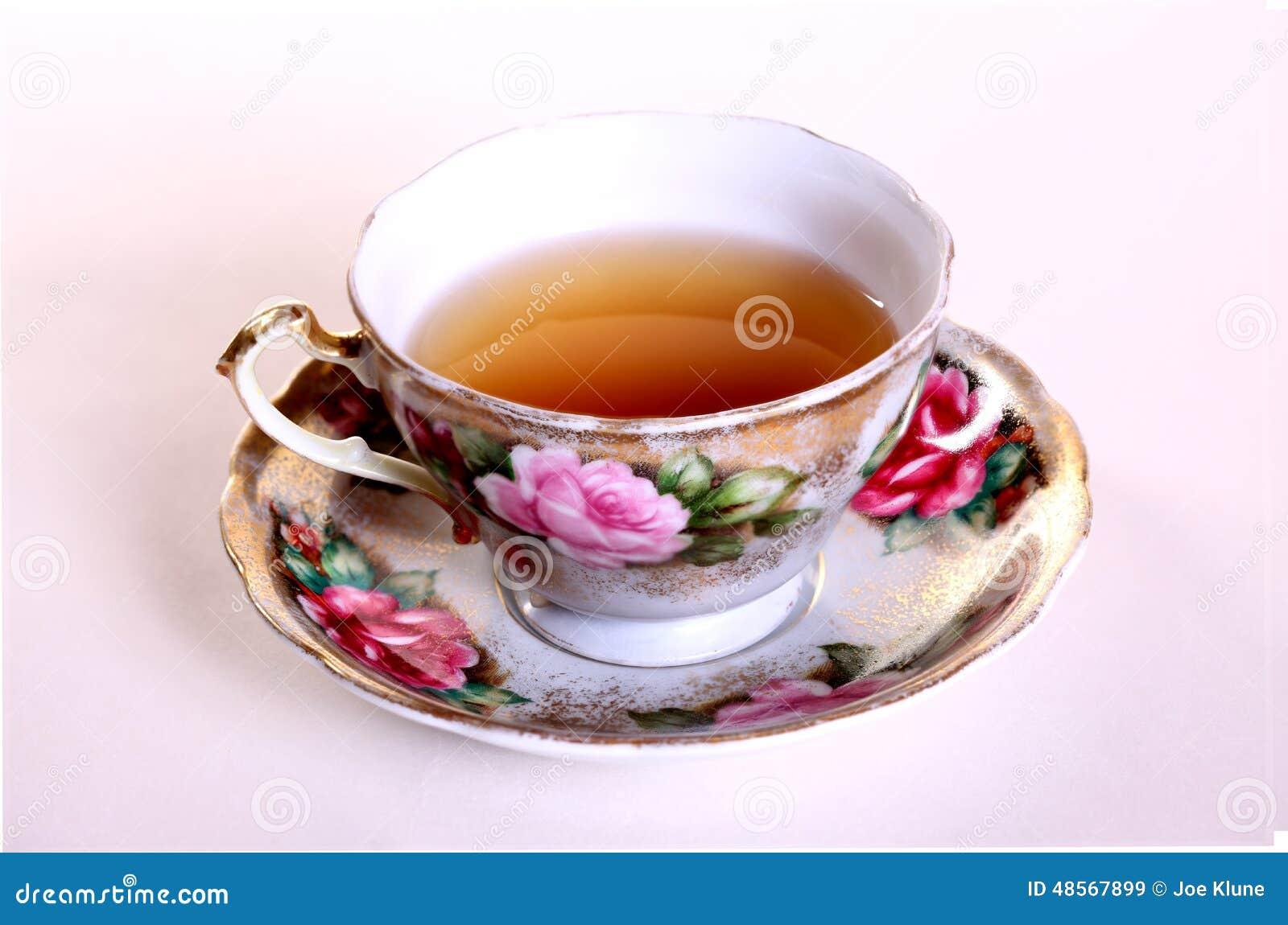 De kop van de thee