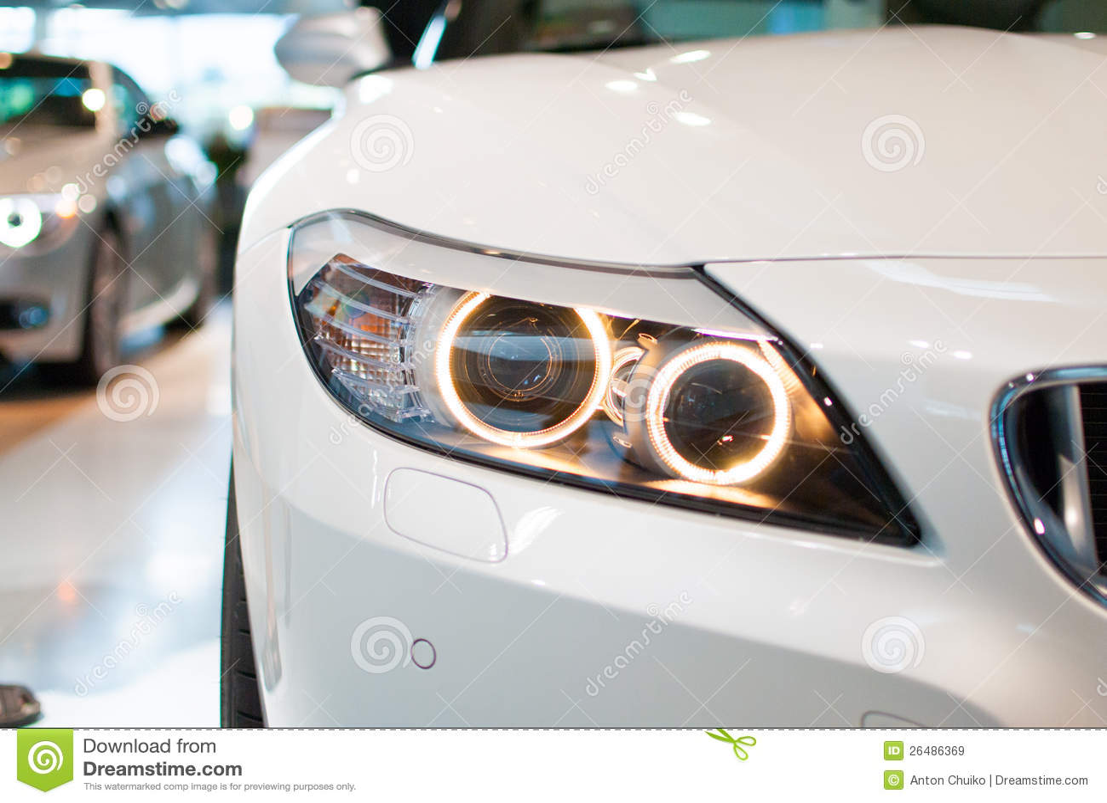 De Koplamp van BMW
