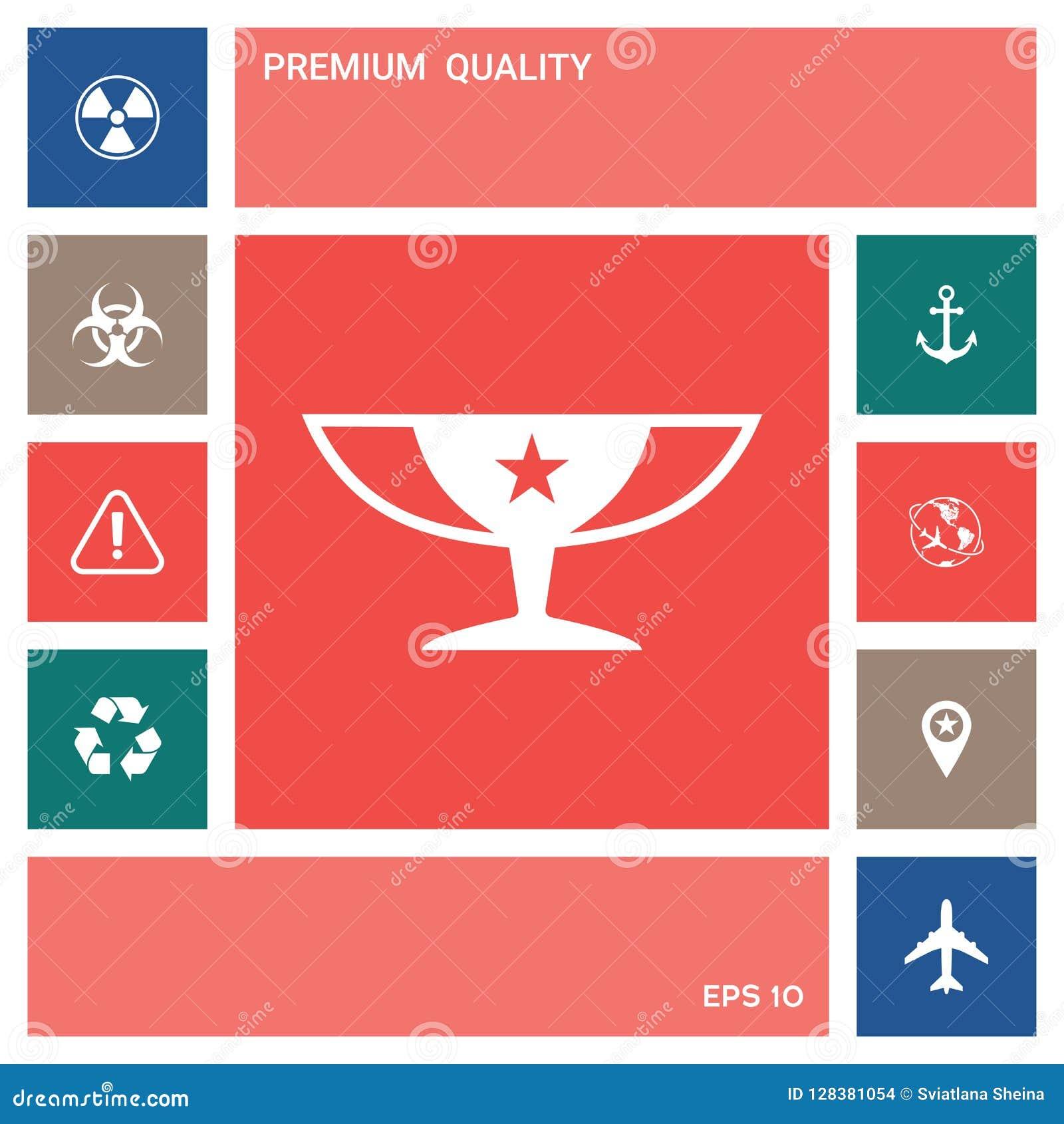De Koppictogram van toekenningskampioenen met ster Elementen voor uw ontwerp