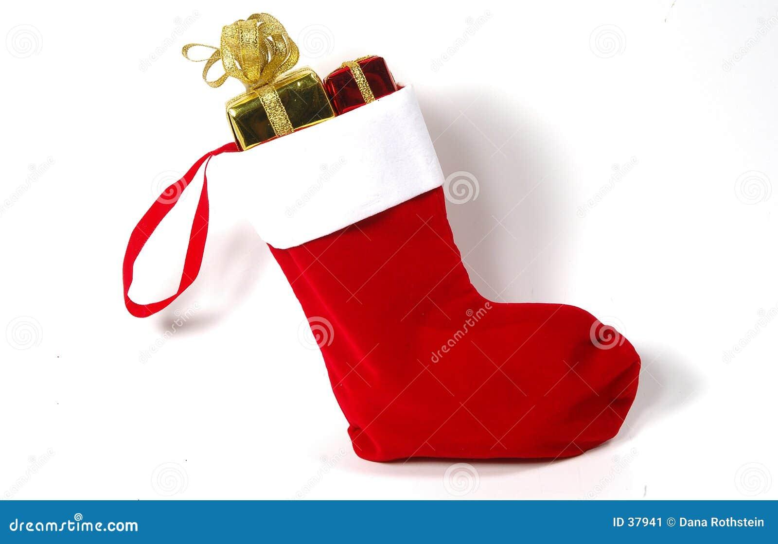 Download De Kous van Kerstmis stock afbeelding. Afbeelding bestaande uit materiaal - 37941