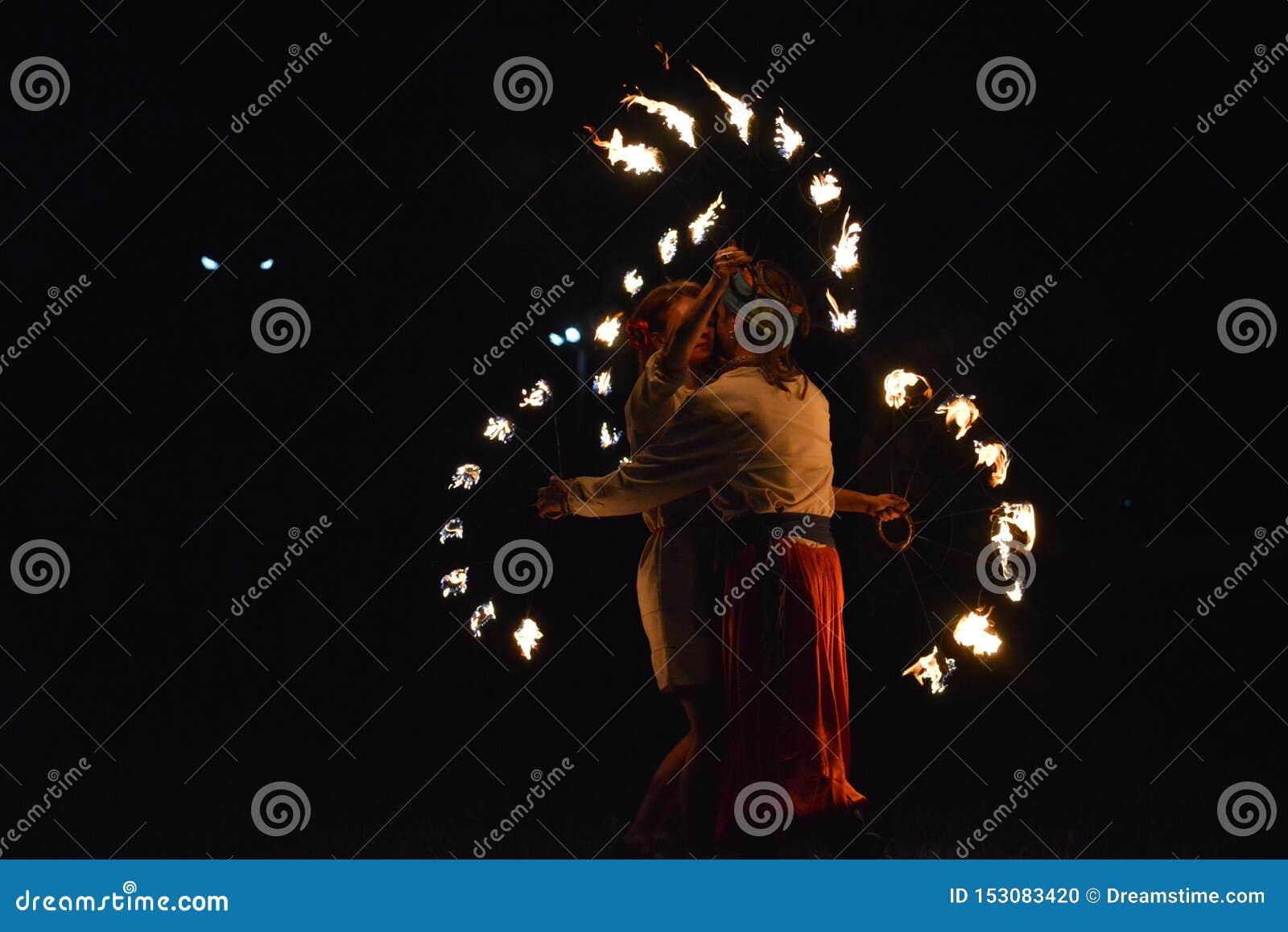 De kozakbrand toont