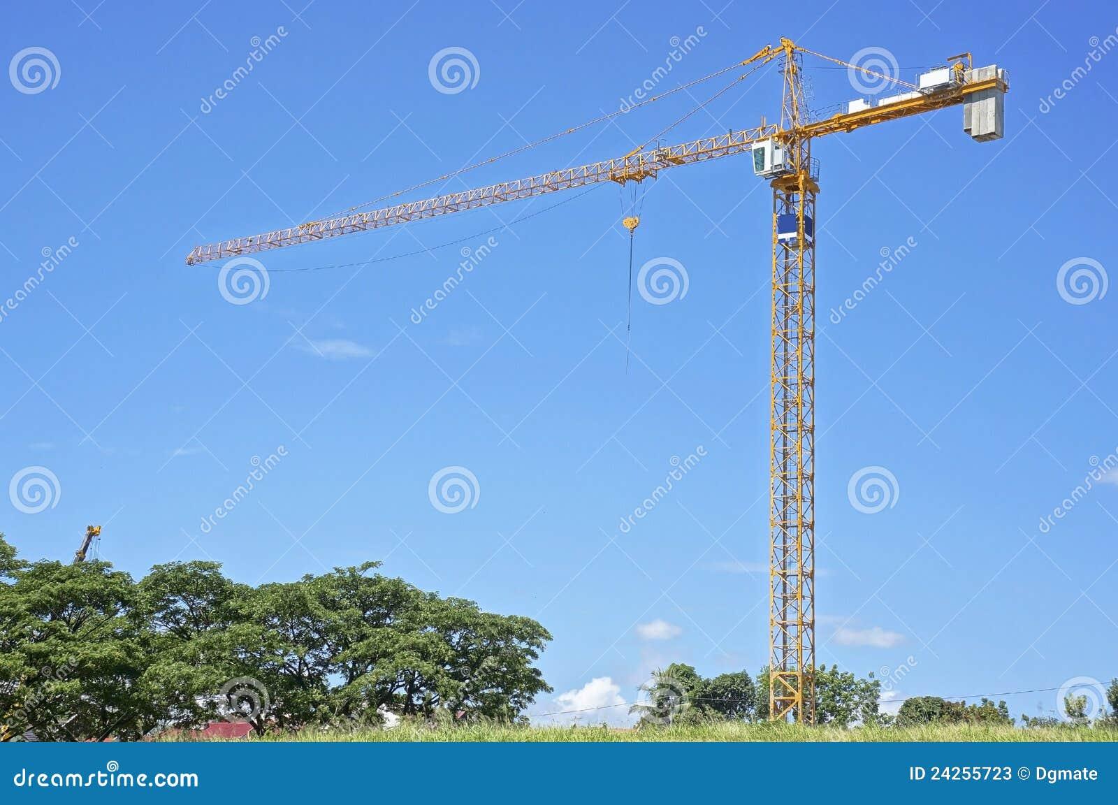De kraan van de bouw