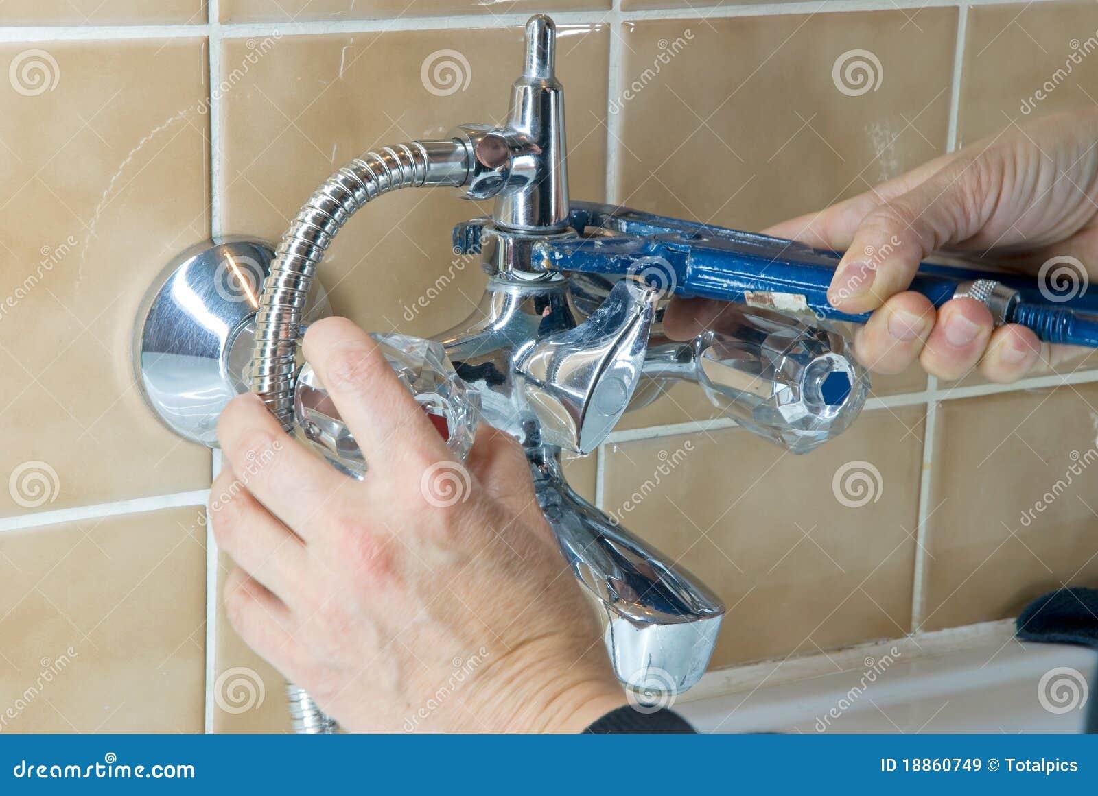 De kraan van de loodgieter