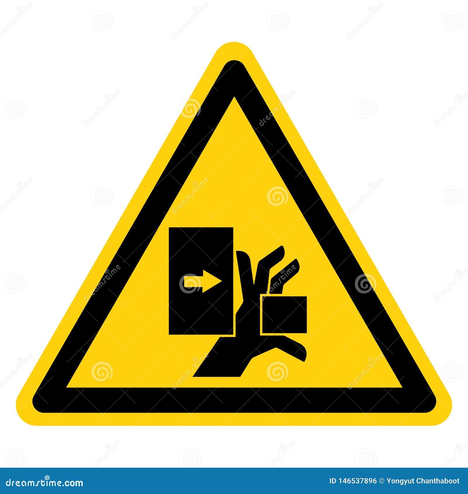 De Kracht van de handverbrijzeling van Linkersymboolteken, Vectorillustratie, isoleert op Wit Etiket Als achtergrond EPS10