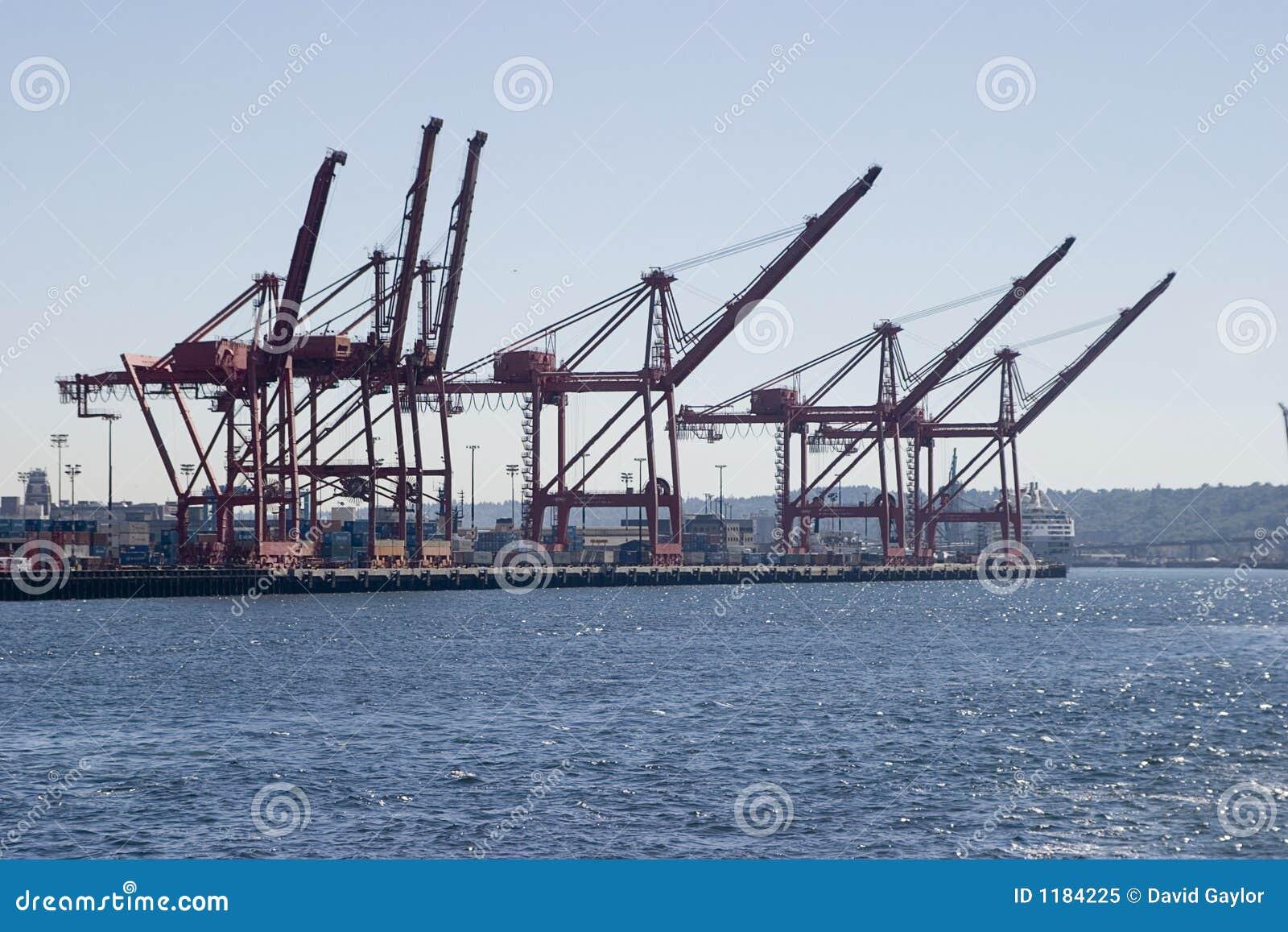 De Kranen van de container