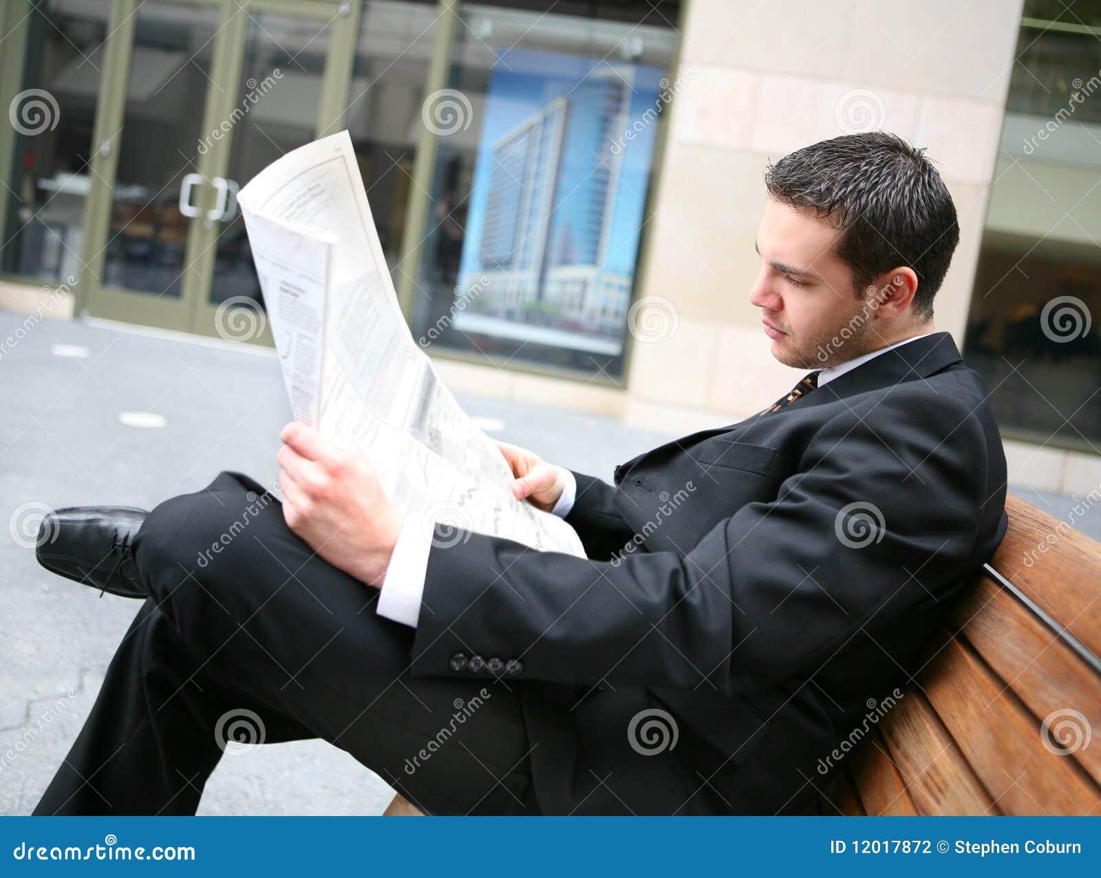De Krant Lezing van de bedrijfs van de Mens