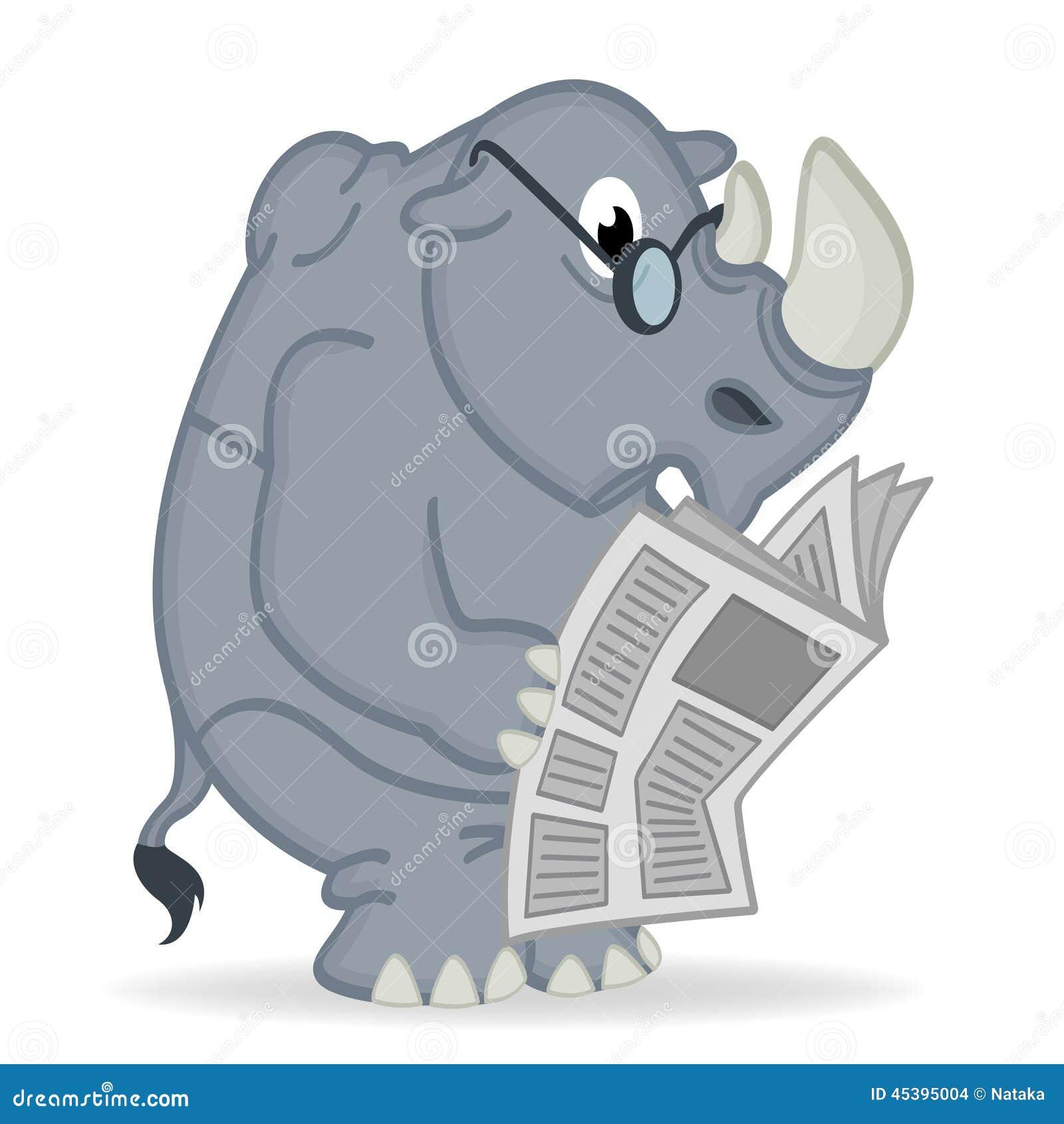 De krant van de rinoceroslezing