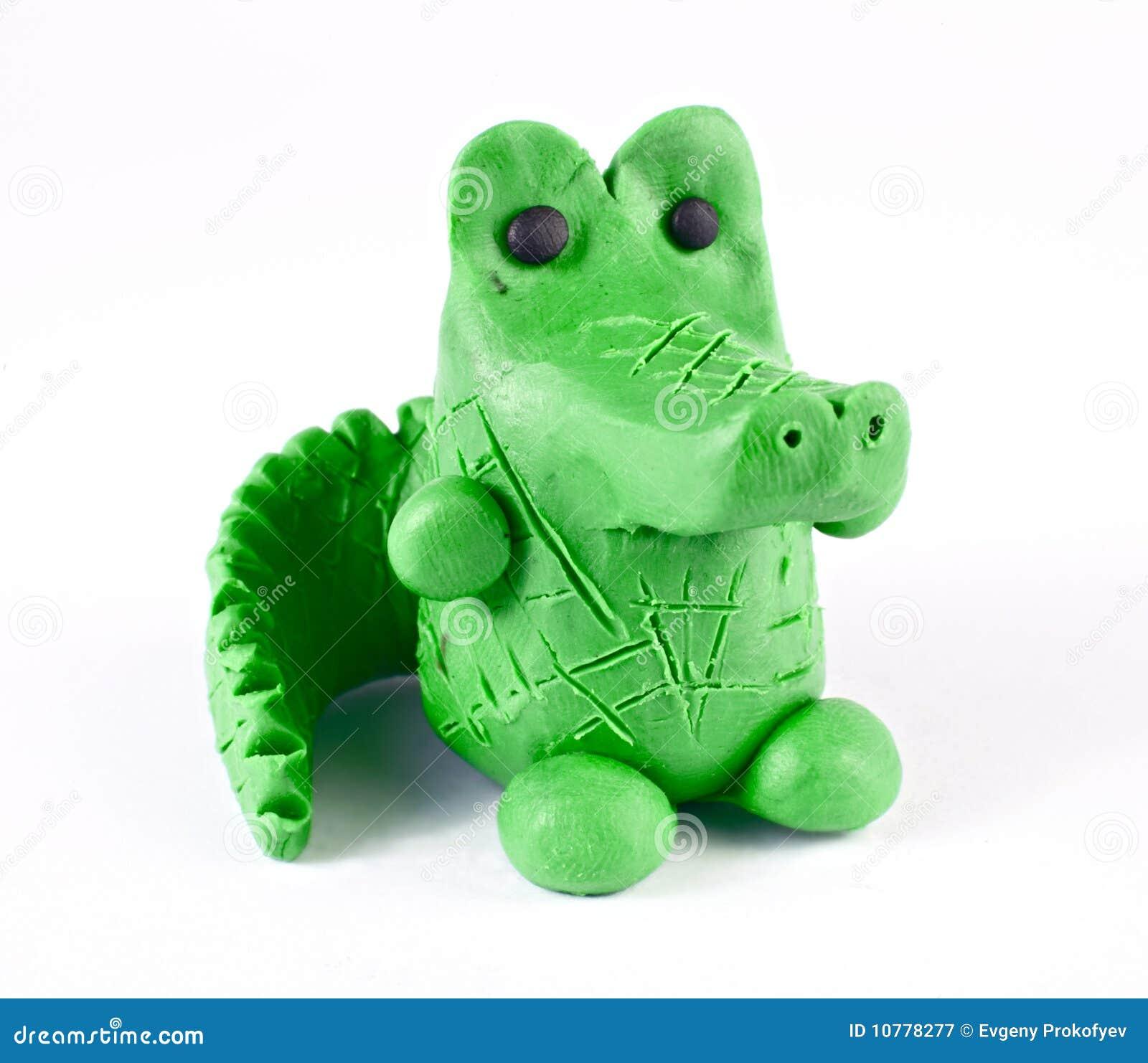 De krokodil van de plasticine