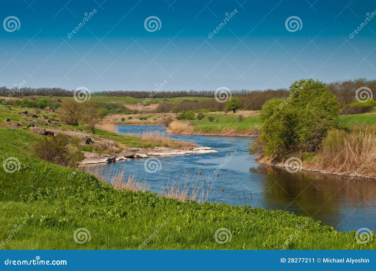 De krommingen van de rivier