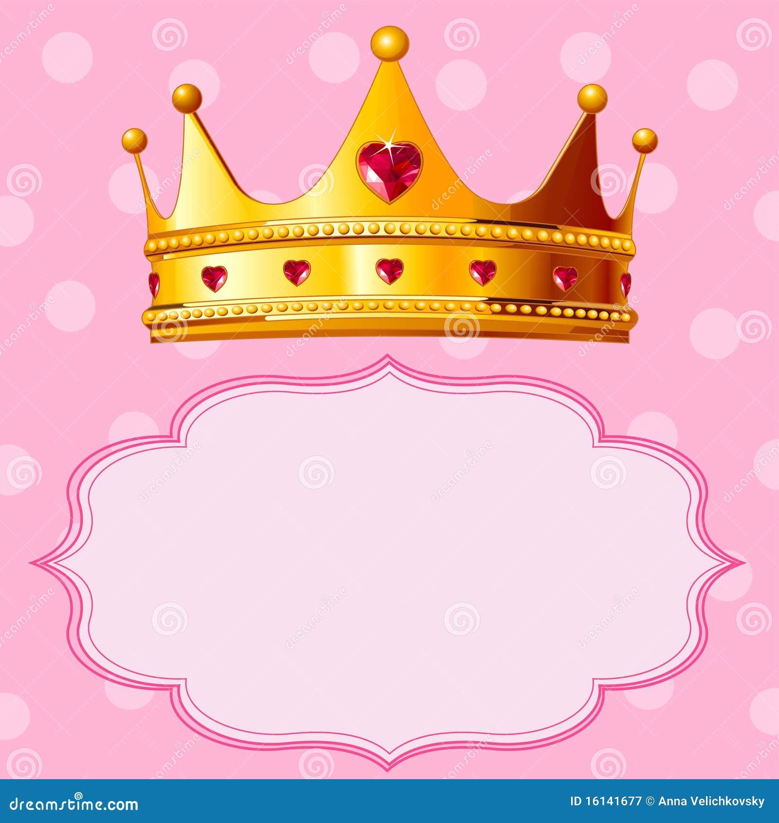 de kroon van de prinses op roze achtergrond vector princess crown vector free disney princess crown vector