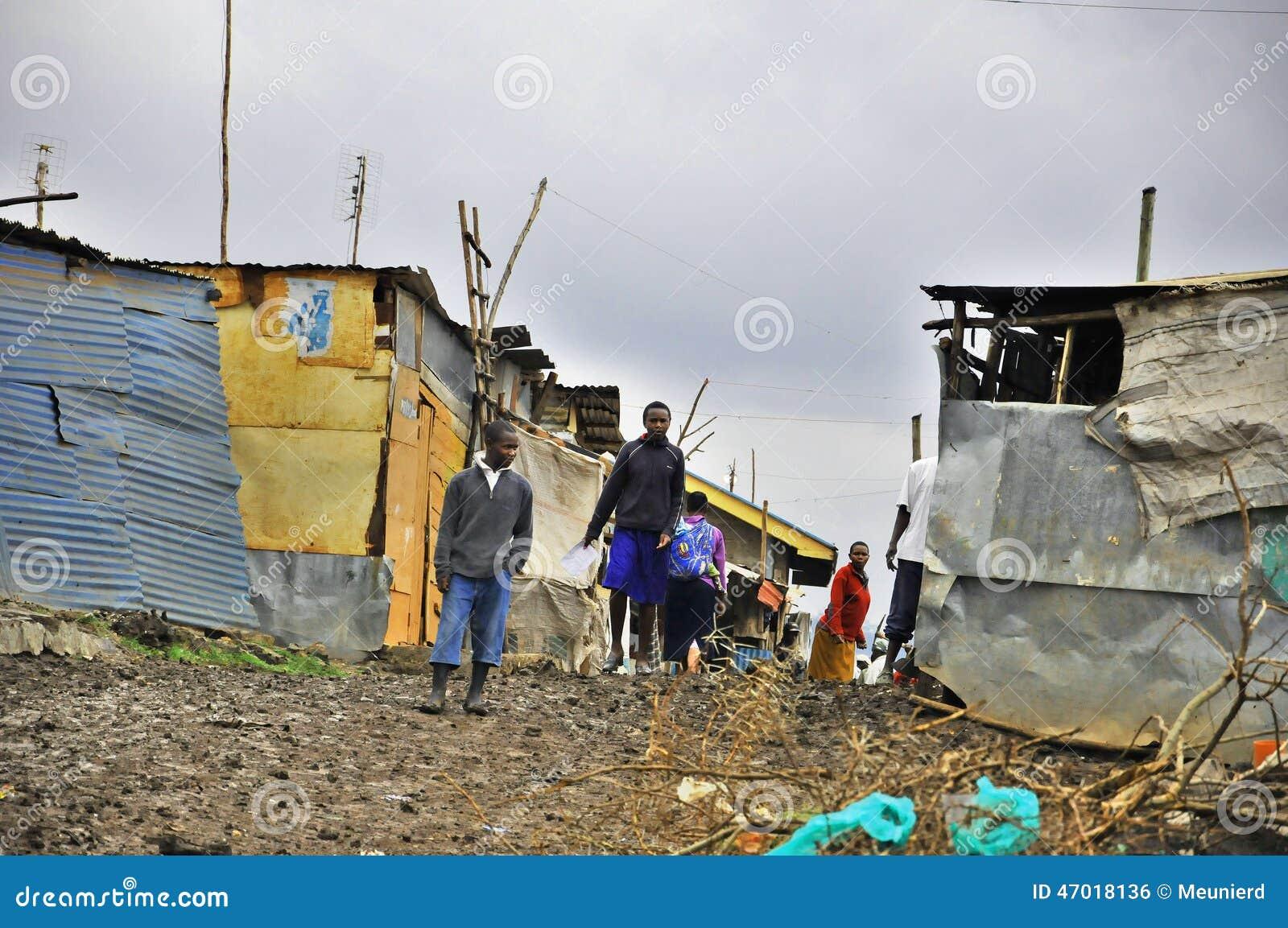 De krottenwijk van Nairobi
