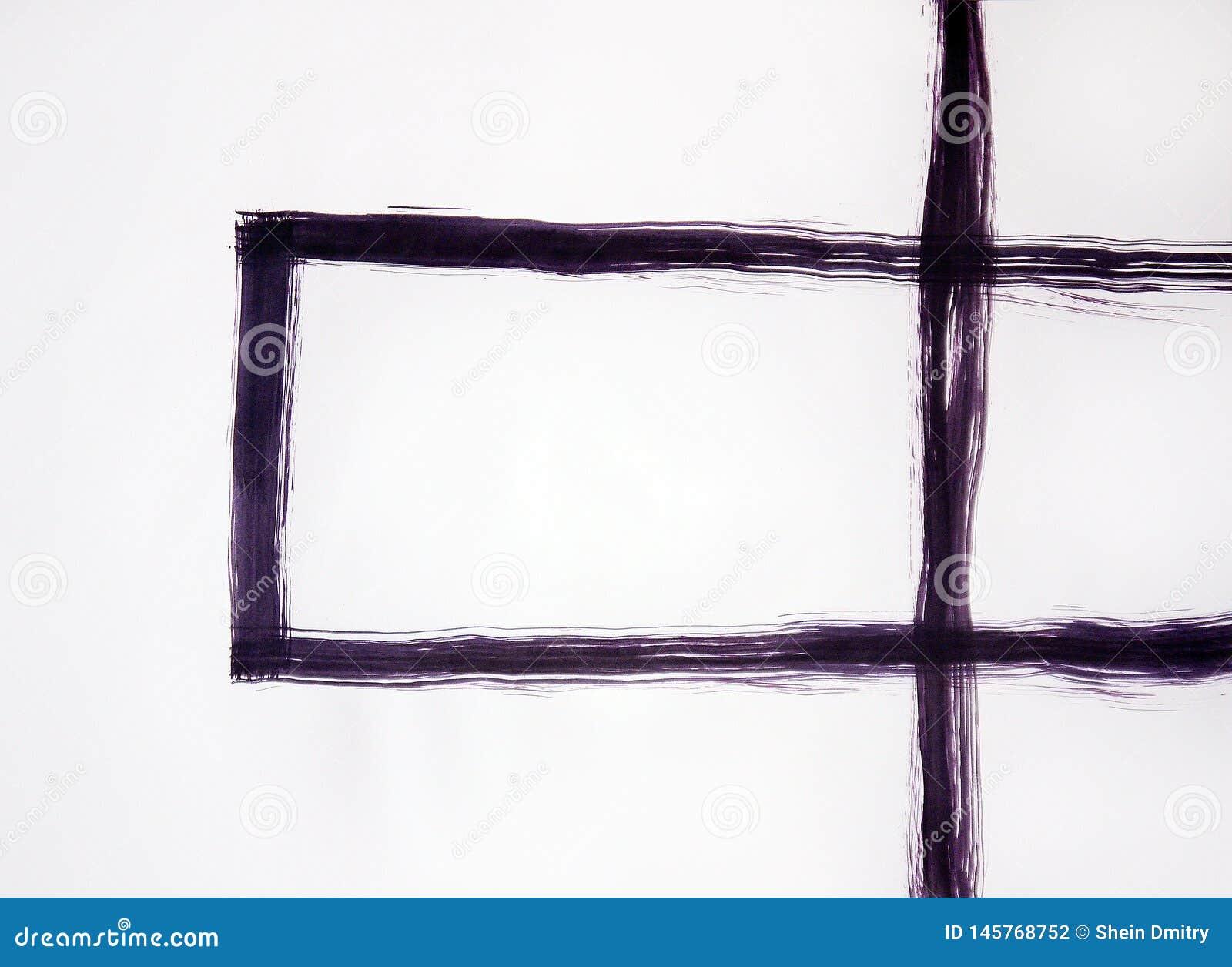 De kruising van de lijn en de rechthoek