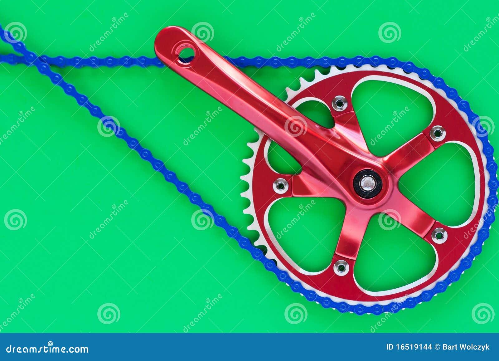 De krukas van de fiets fixie