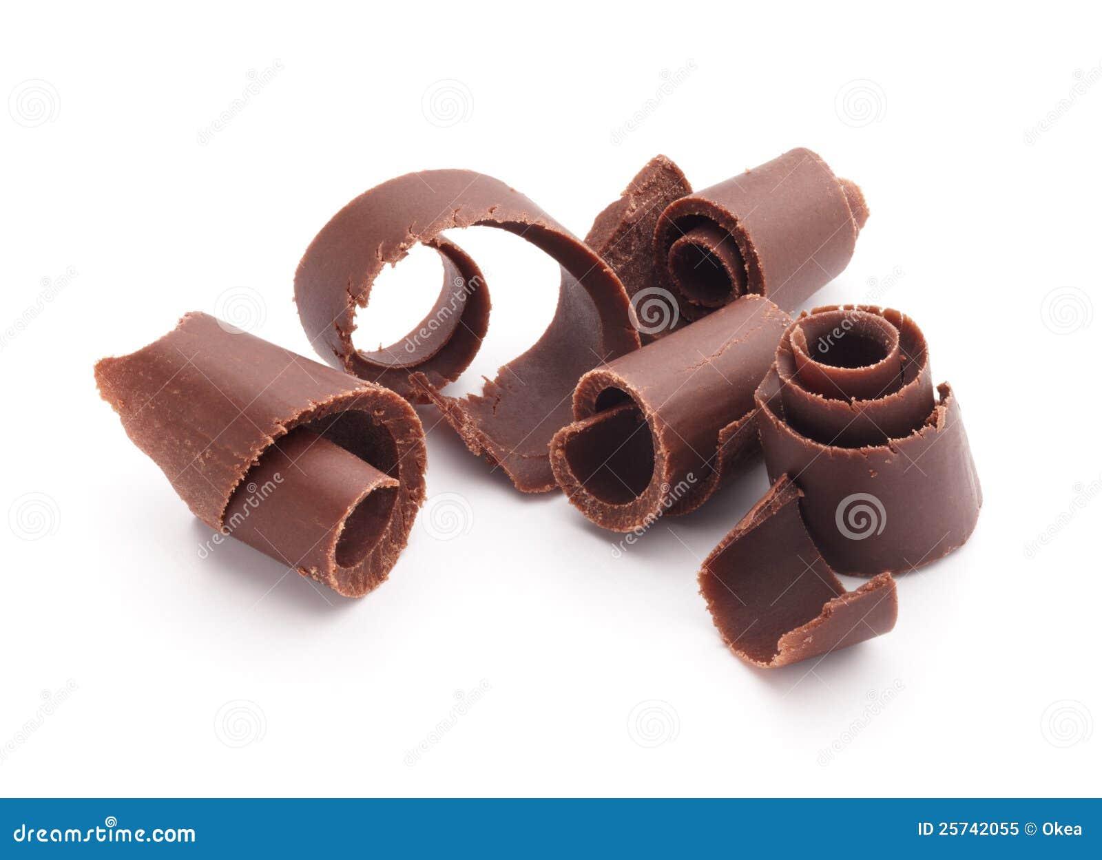 De krullen van de chocolade