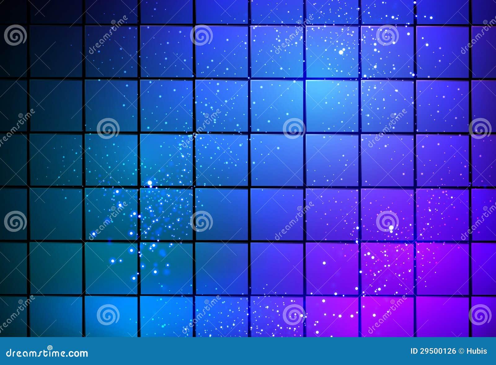 De kubusachtergrond van het neonlicht
