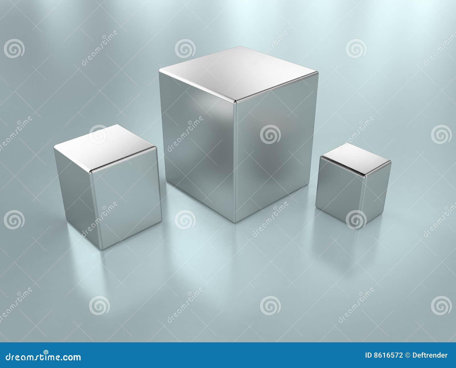 De kubussen van het metaal