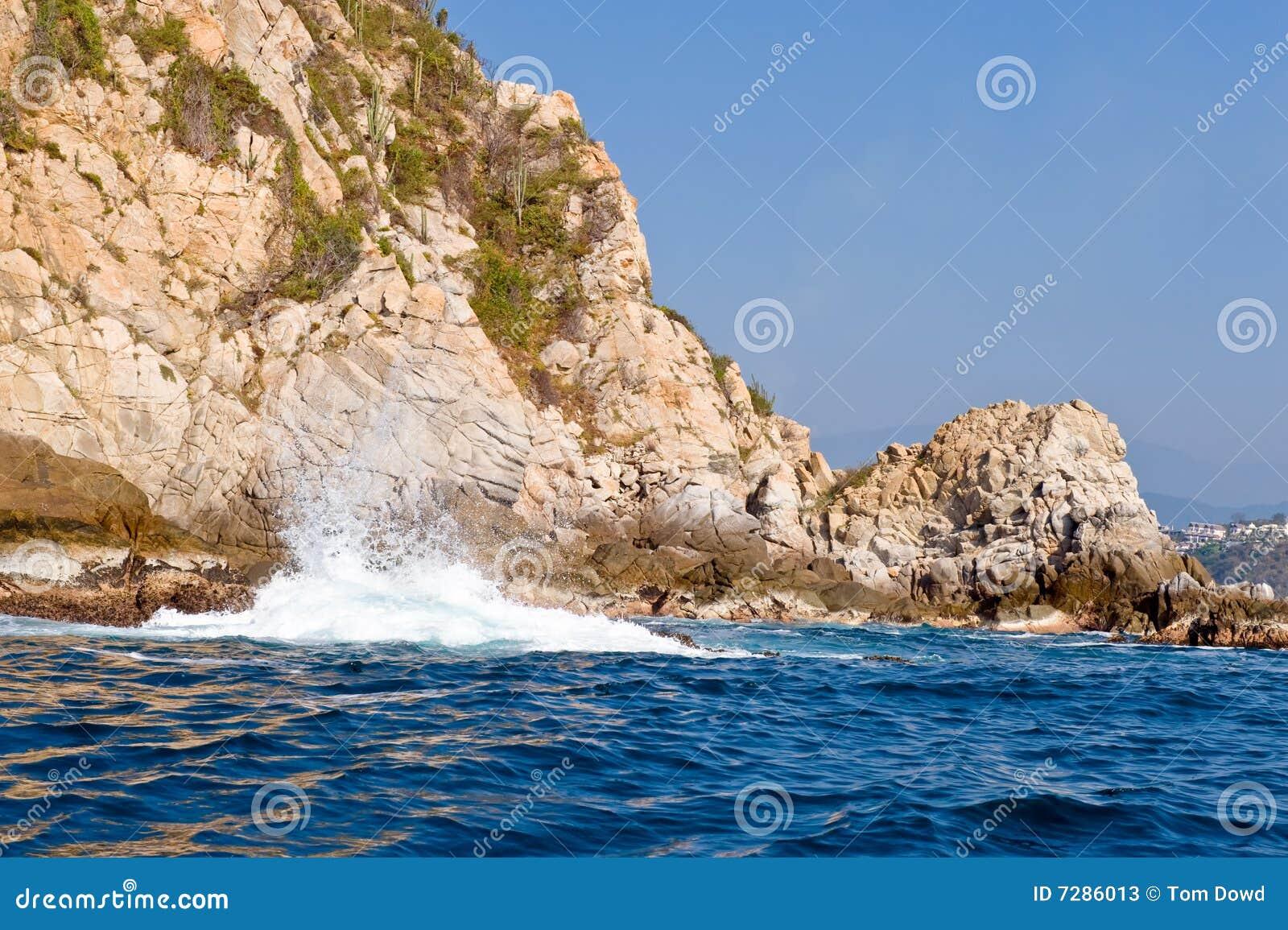 De kust van Mexico van Huatulco