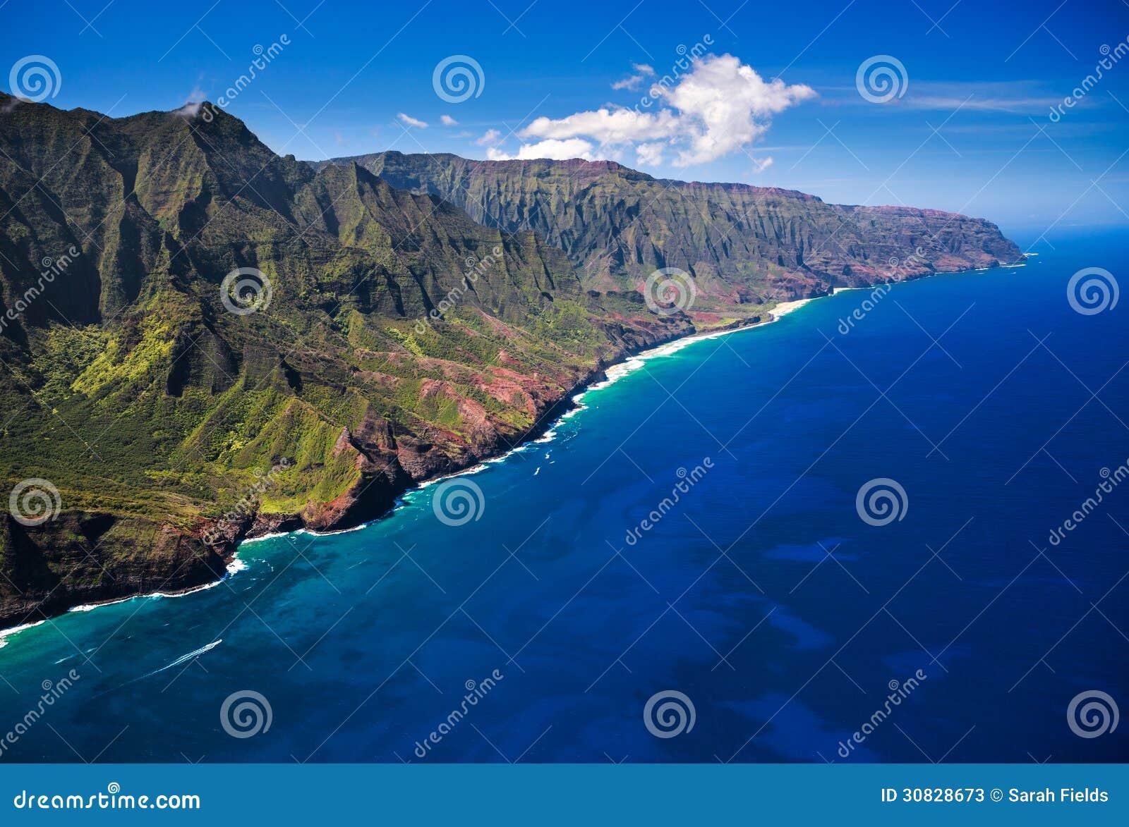 De Kustlijn Kauai van Na Pali