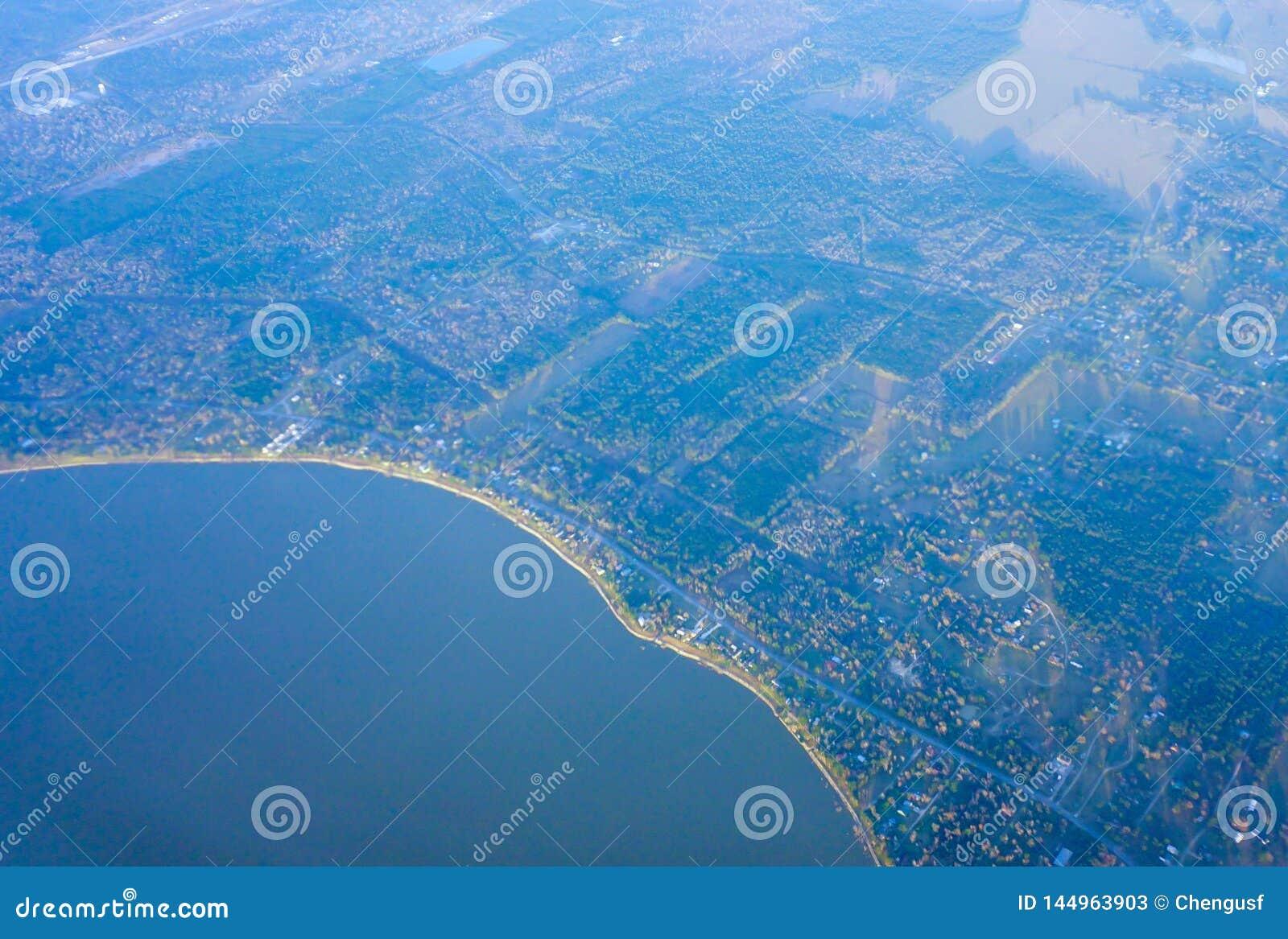 De kustlijn van Houston