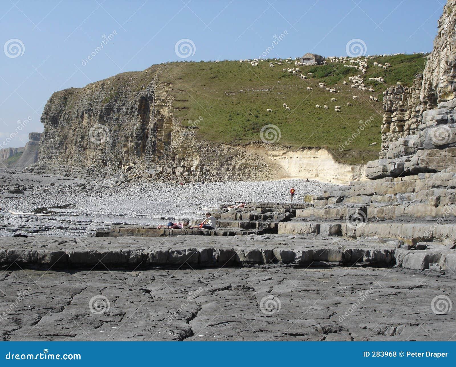 De kustlijn van Monknash