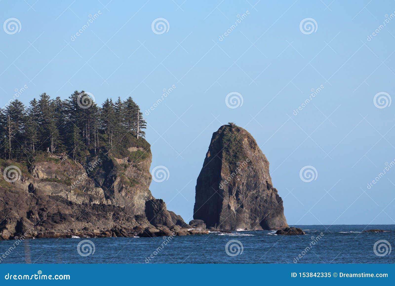 De kustlijn van de staat van Washington
