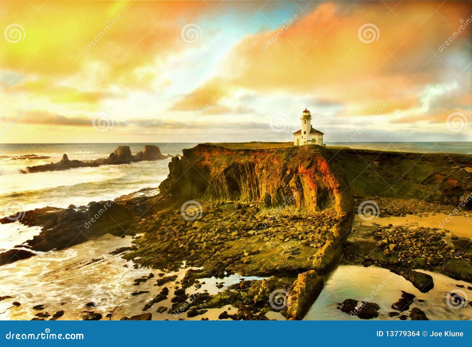 De kustportret van Oregon