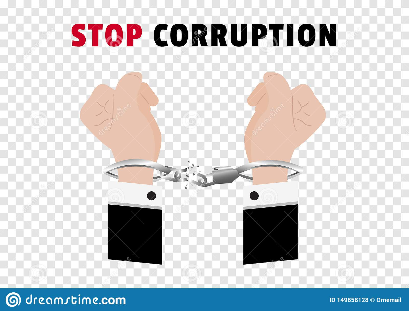 De la corrupción de la parada el campaing con las manos del hombre de negocios arrestó control poniendo las esposas de plata y ce