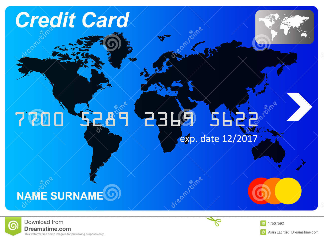 No Credit Cards with Expiry Date