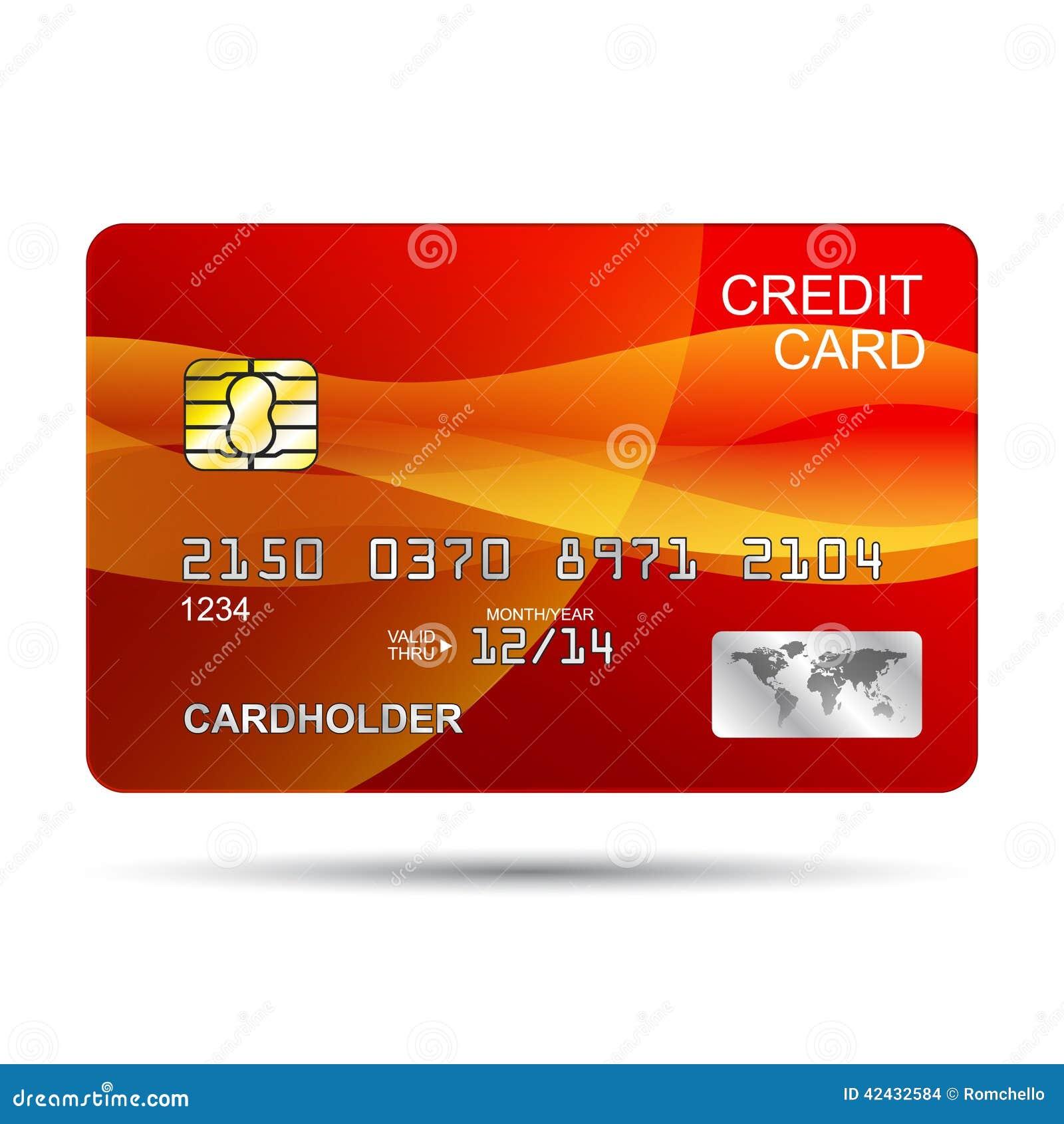De la tarjeta de crédito rojo