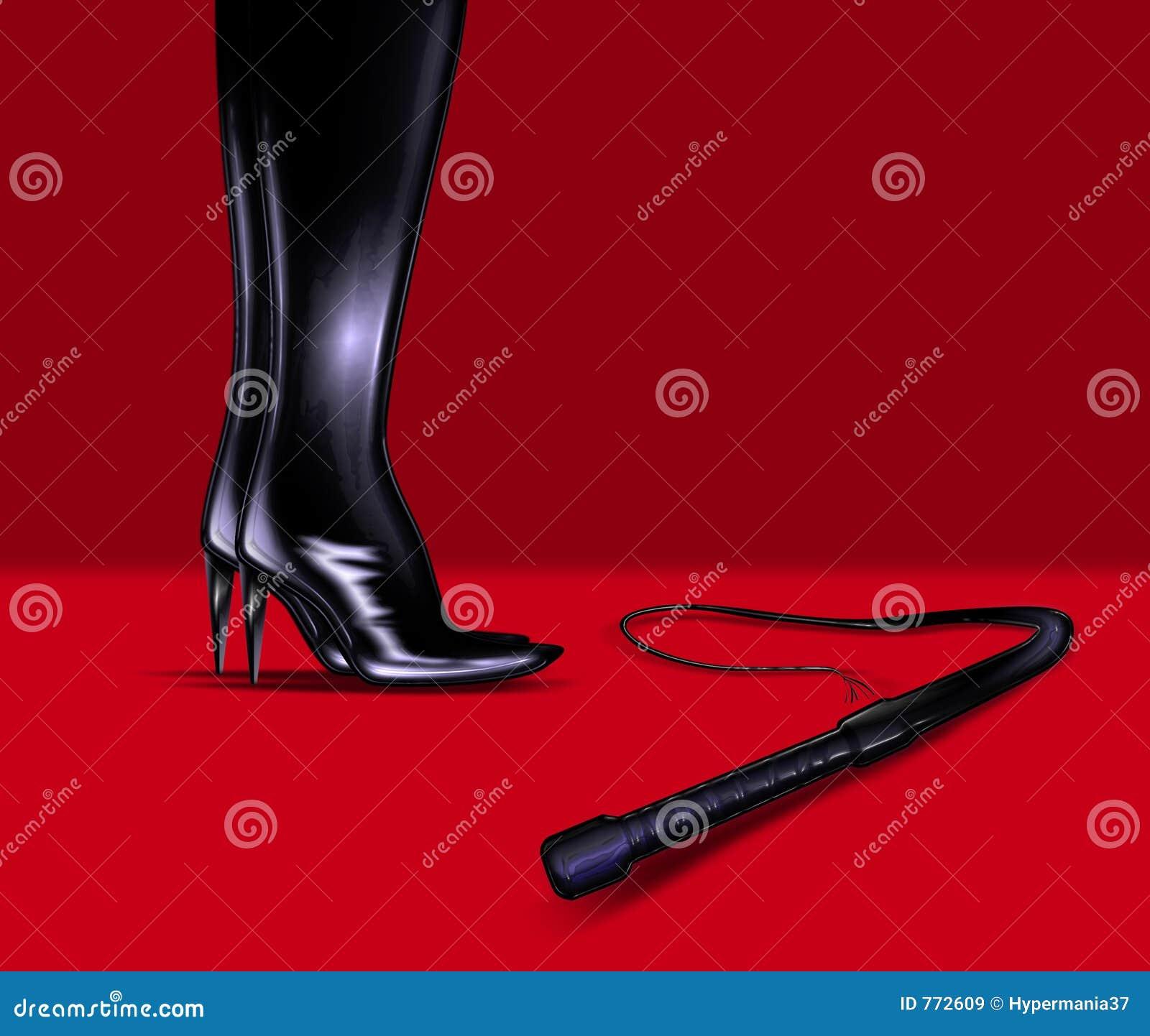 De laarzen van het leer en ranselen