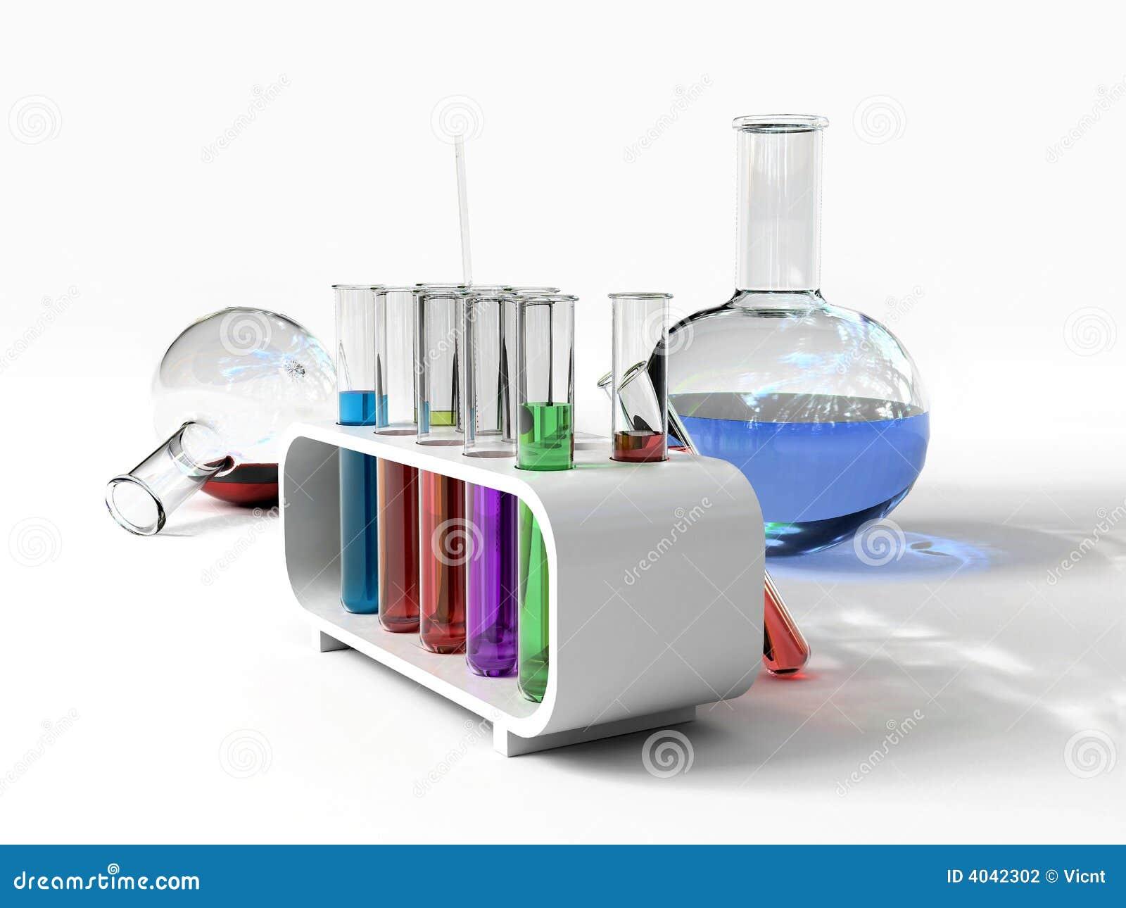 De laboratorium tust buizen