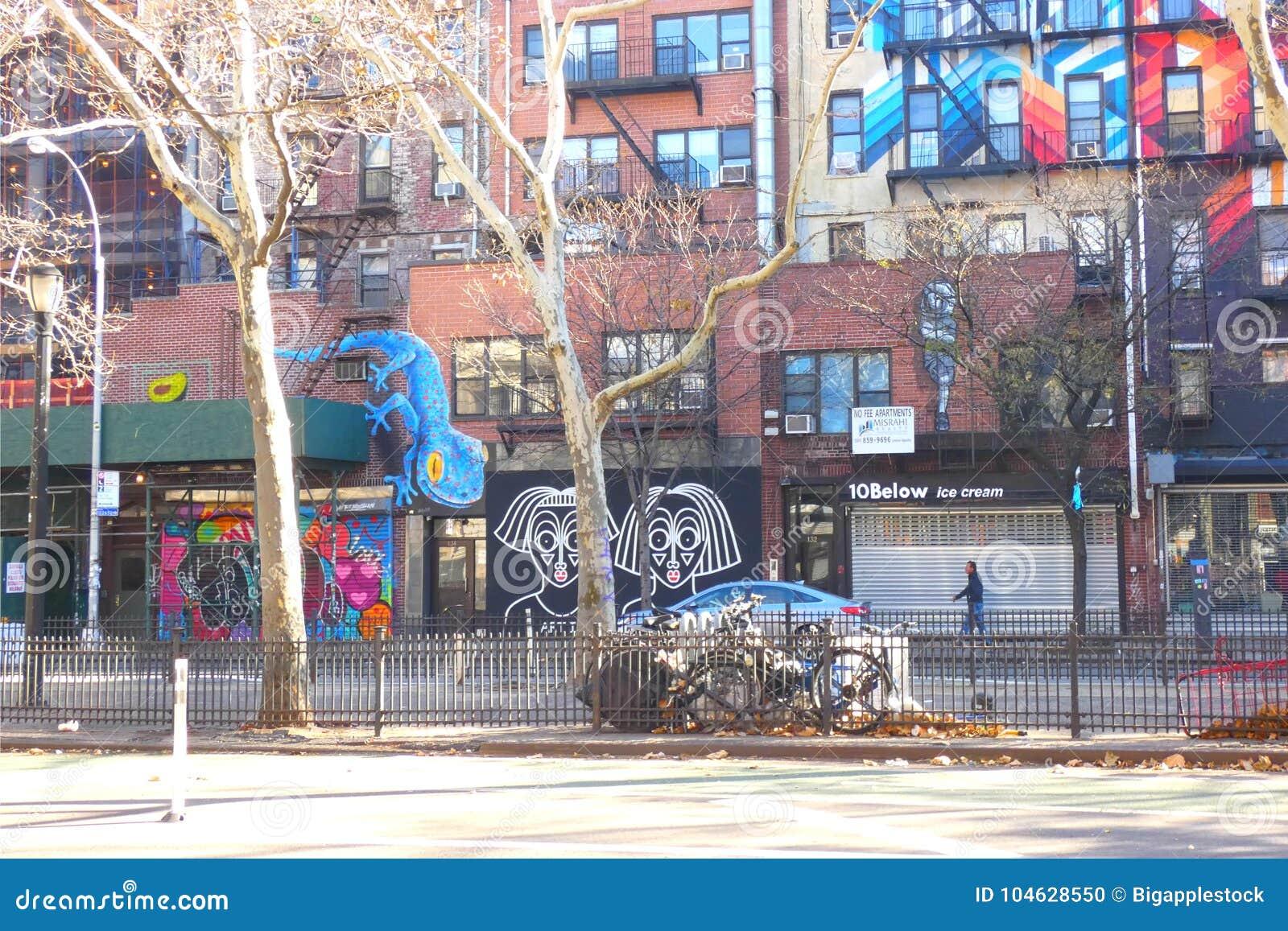 Download De Lagere Kant Van Het Oosten In De Stad Van New York Redactionele Afbeelding - Afbeelding bestaande uit straat, nieuw: 104628550