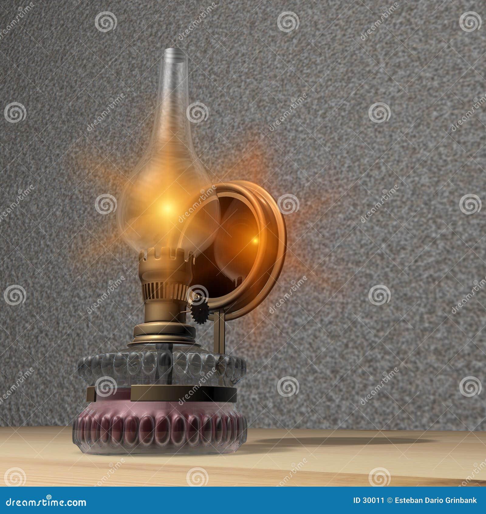 De lamp van de olie
