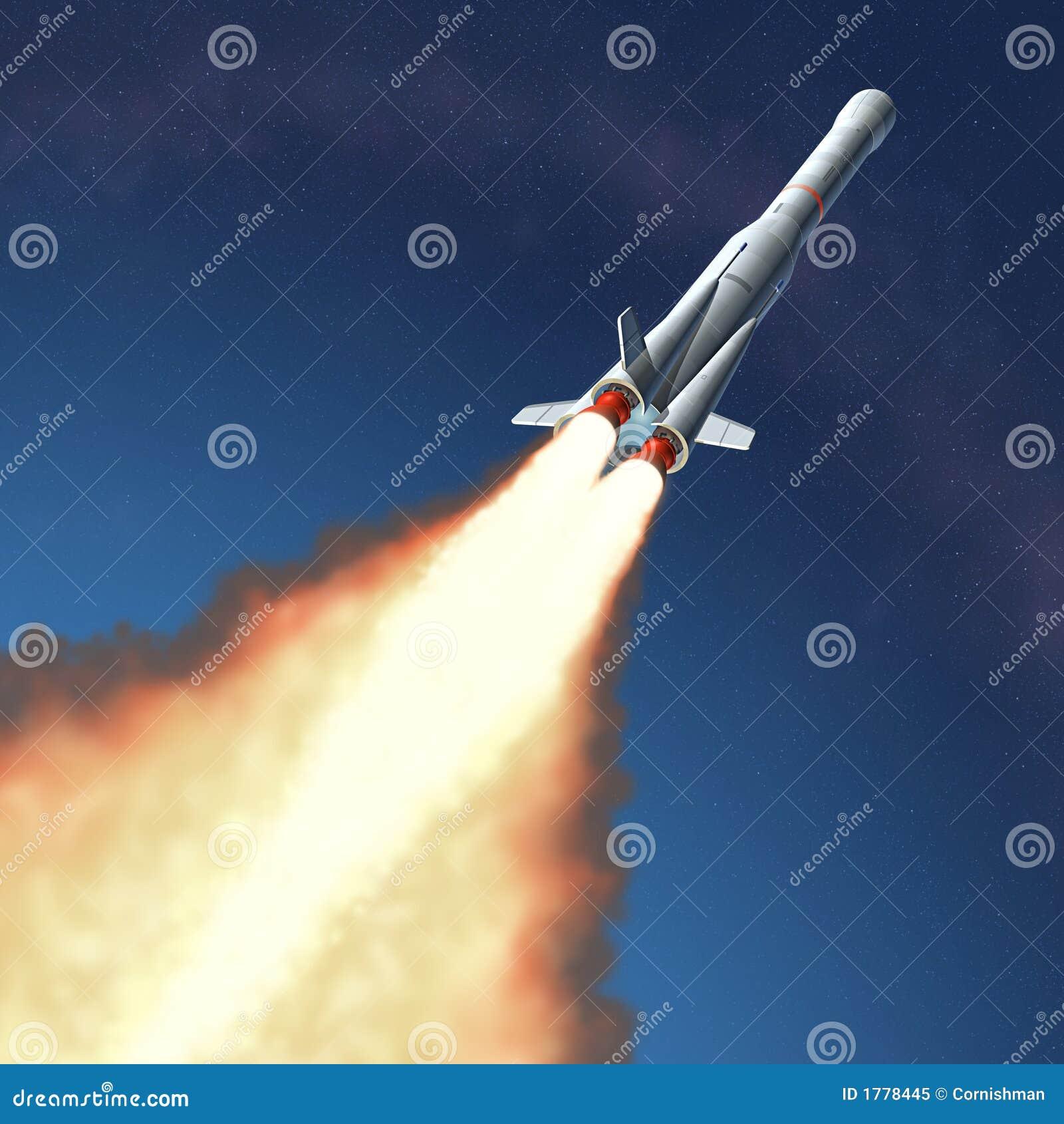 De Lancering van de raket