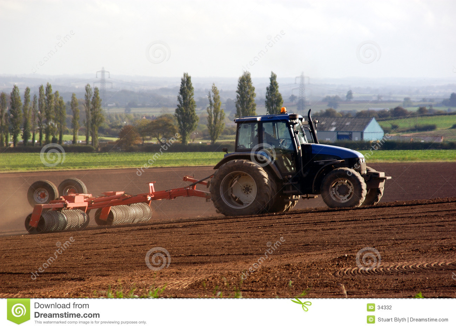 De Landbouw van de tractor