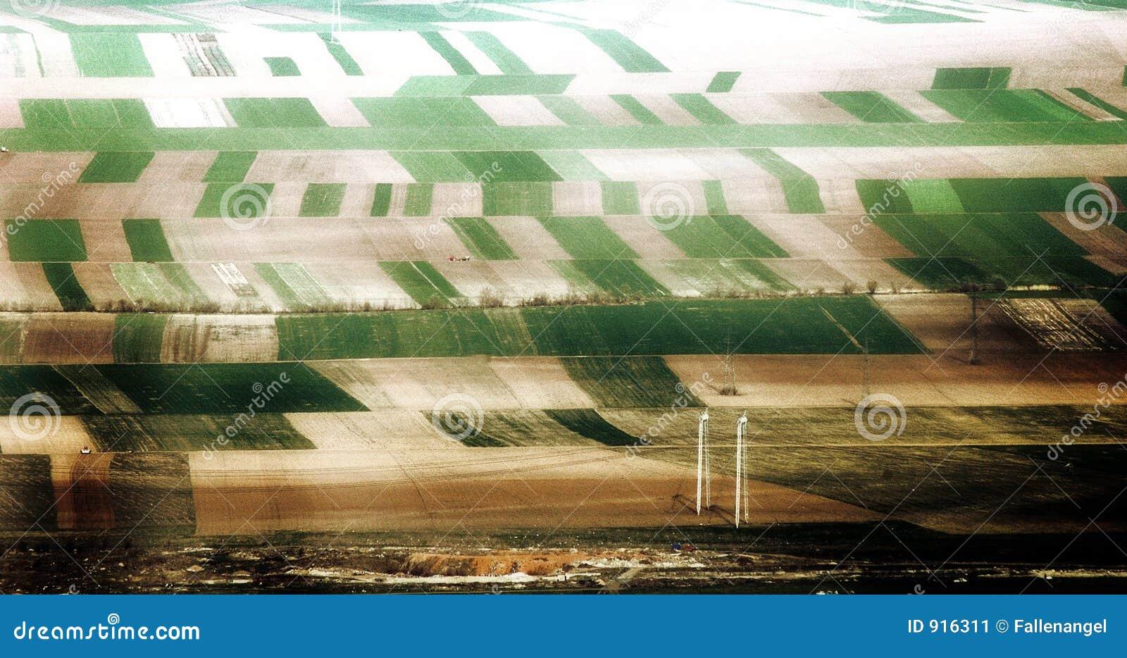De landbouw - zichtbare korrel