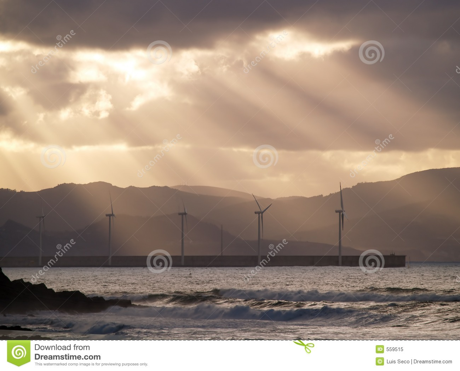 De Landbouwbedrijven van de wind in Azkorri