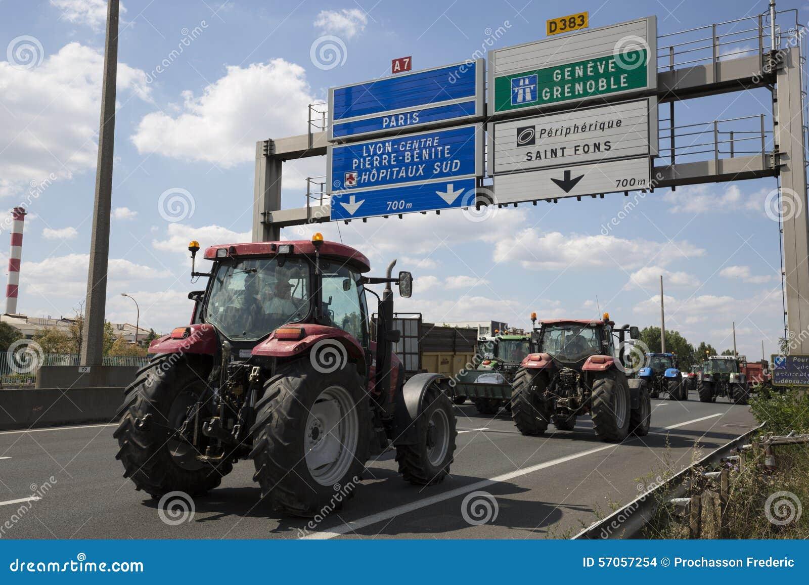 De landbouwers protesteren