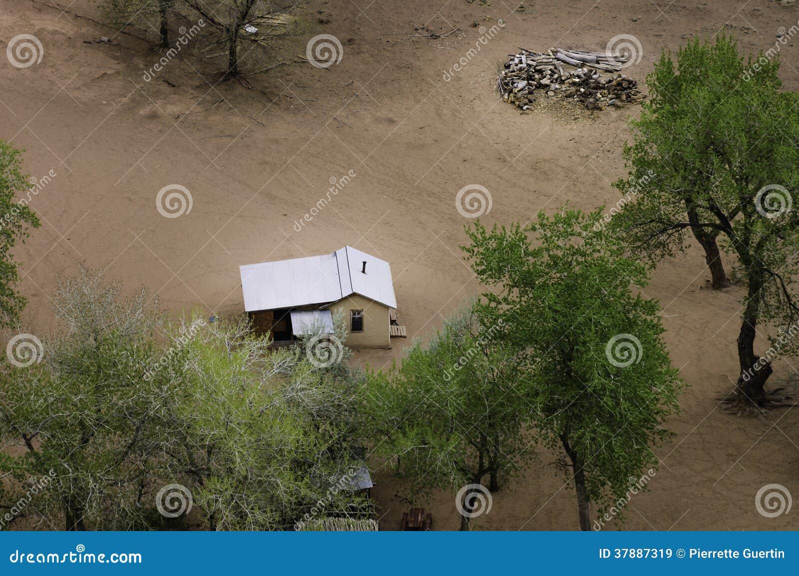 De landbouwgrond van Navajo