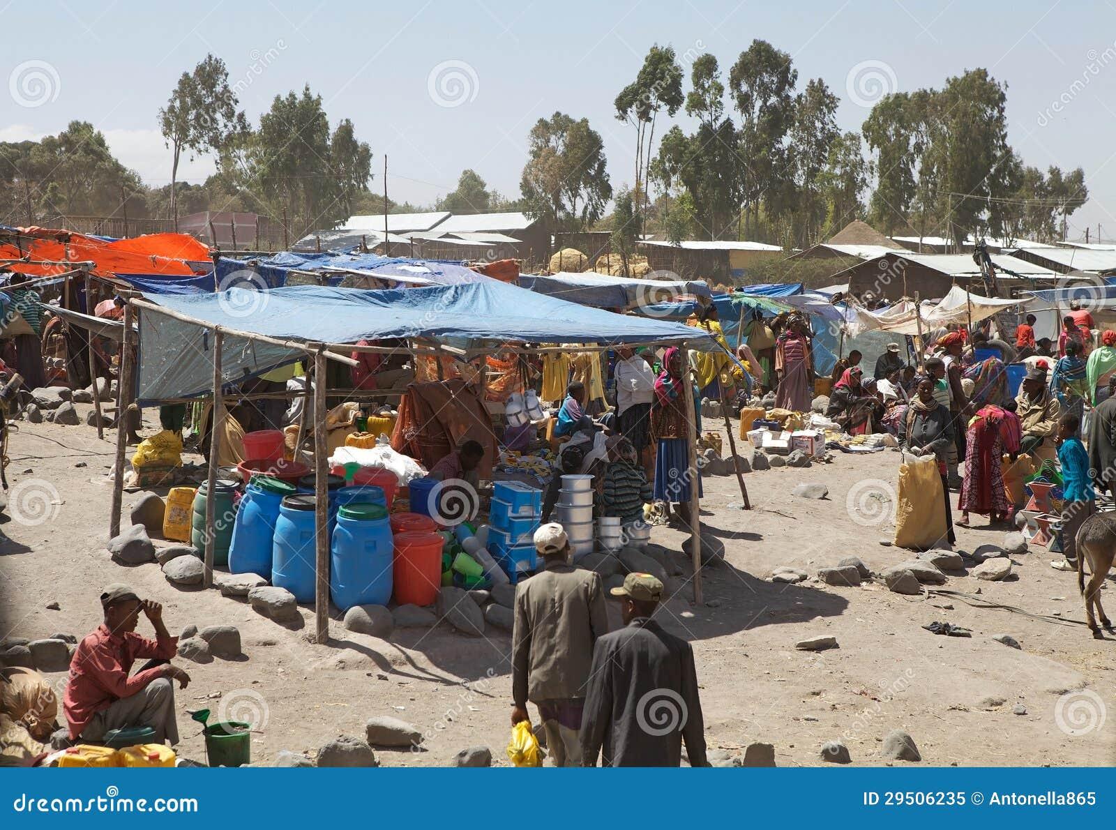 De landelijke markt van Afrika