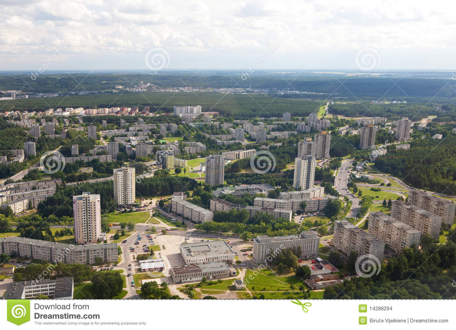 De landgoederen van de huisvesting in Vilnius