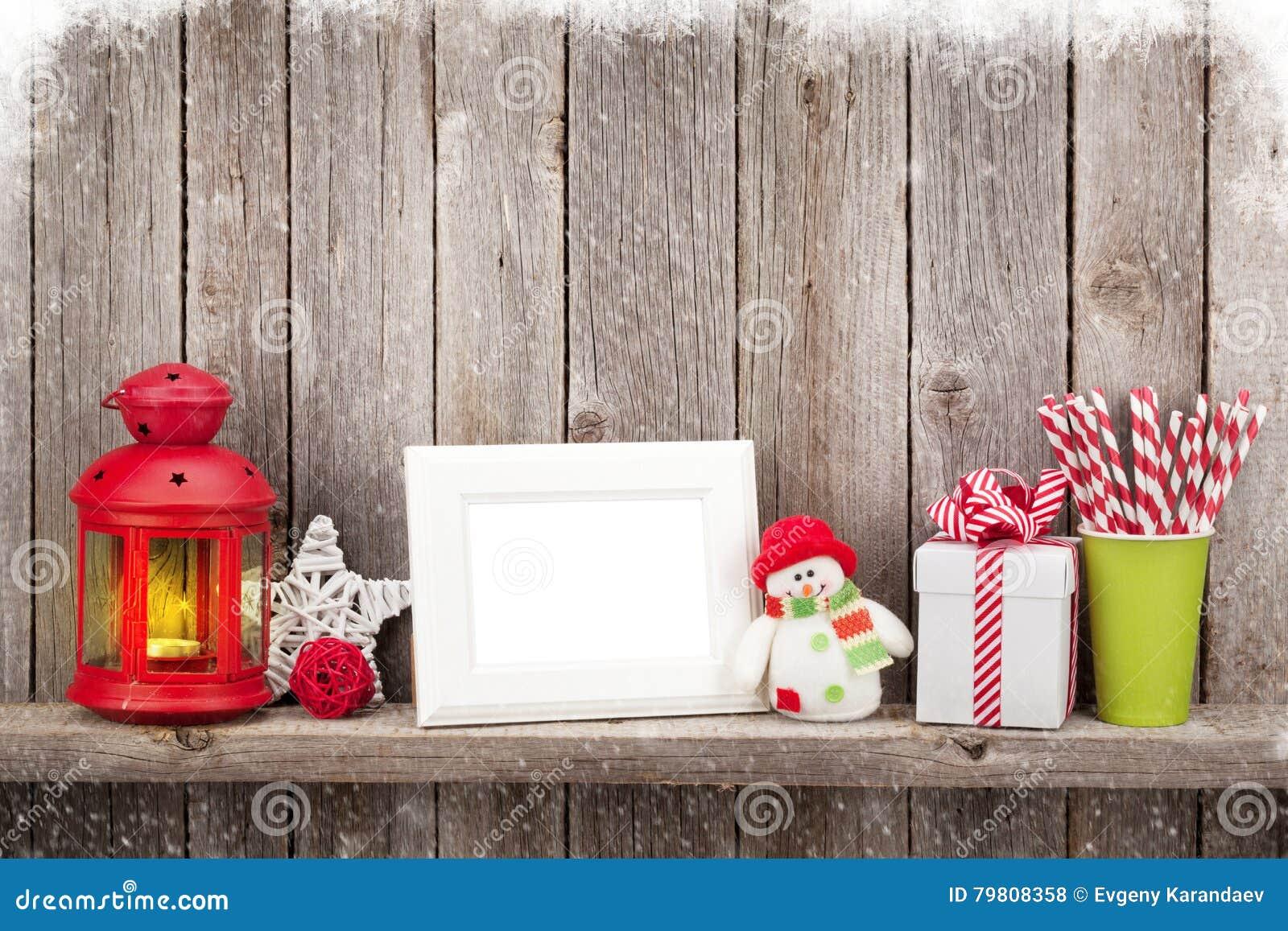 De lantaarn van de Kerstmiskaars, fotokader en decor