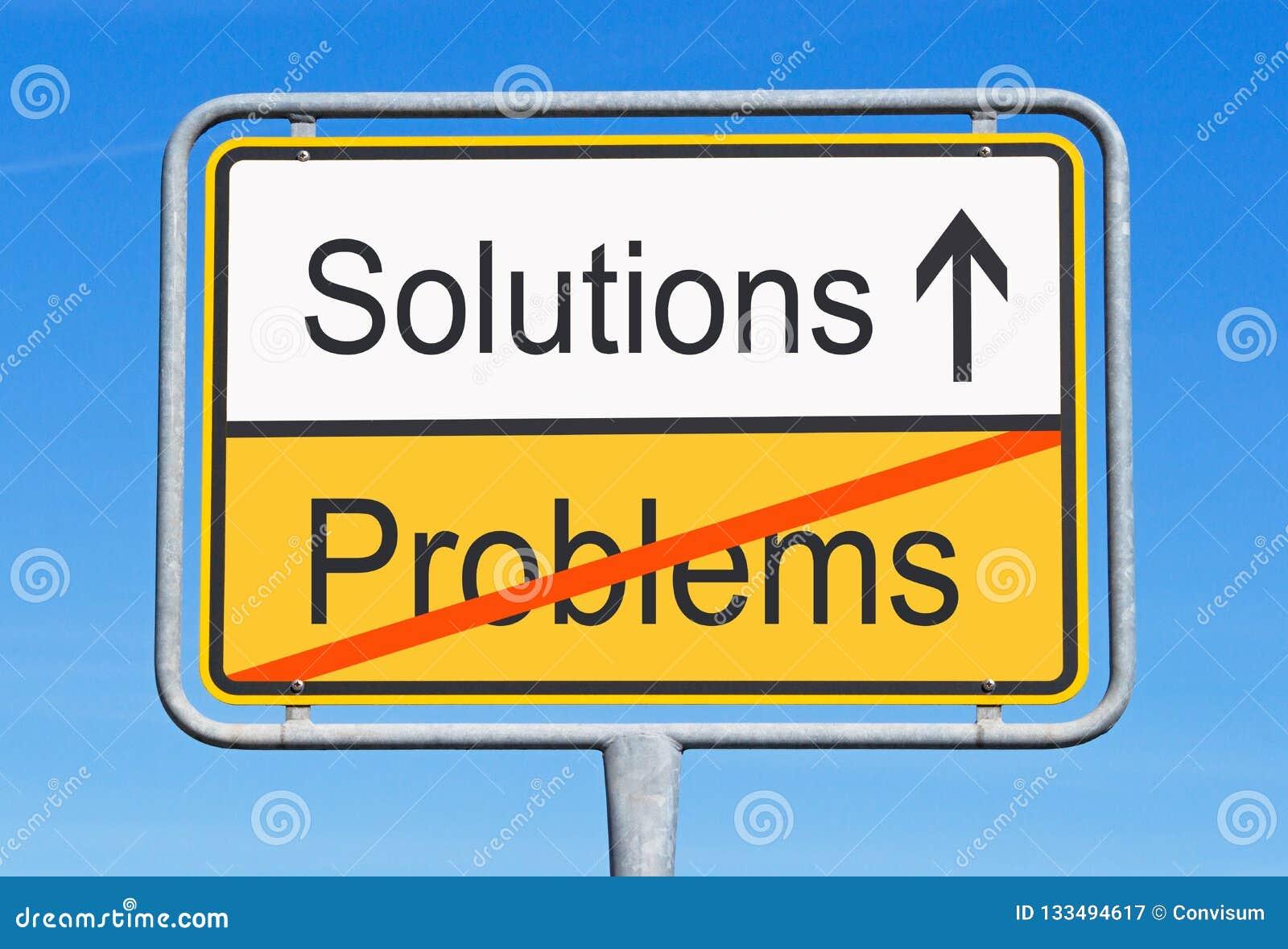 De las soluciones problemas en lugar de otro