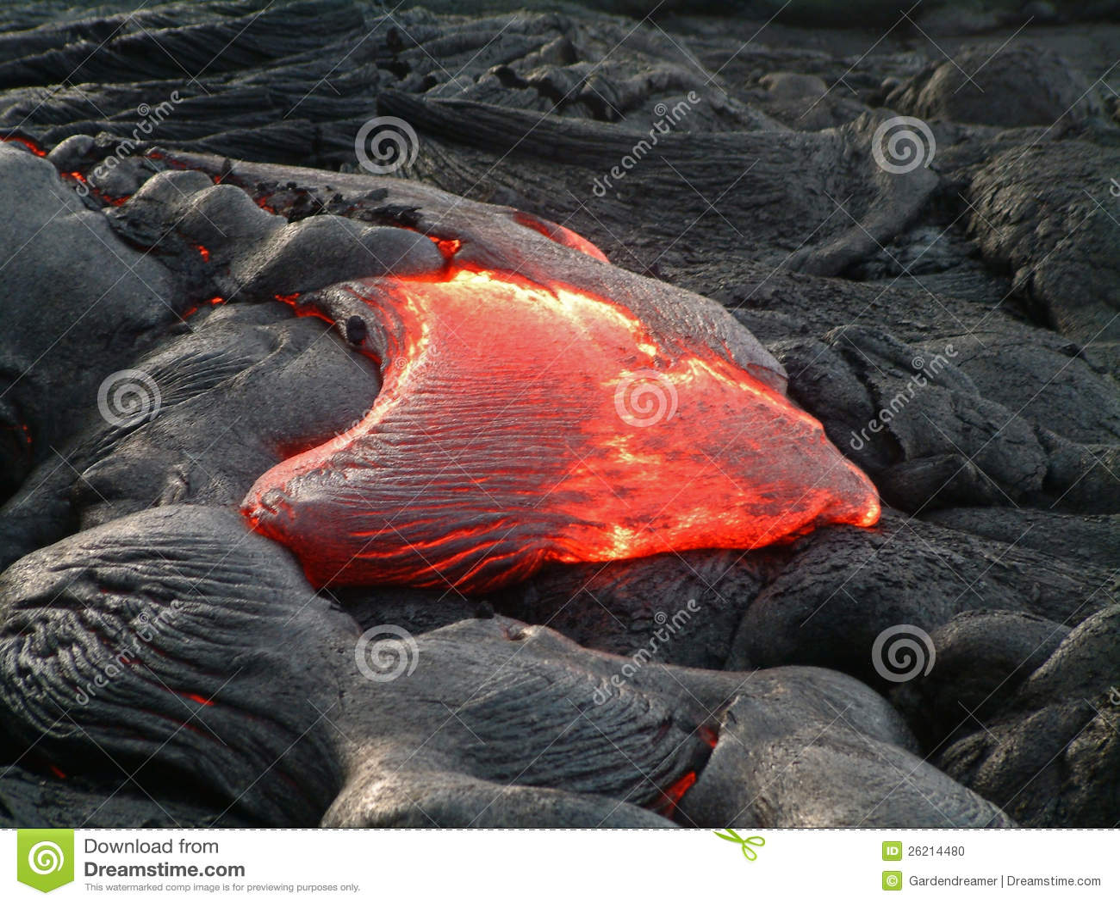 De lavastroom van Hawaï