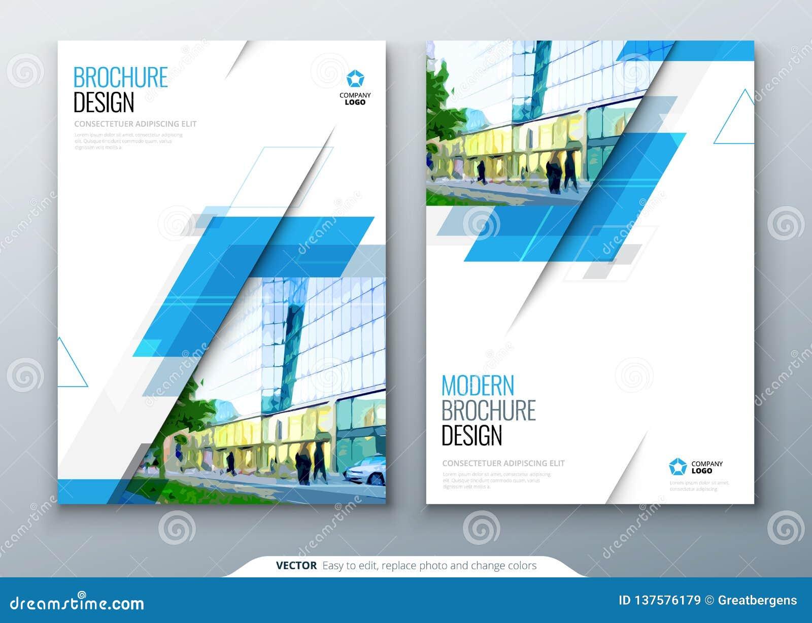 De lay-outontwerp van het brochuremalplaatje Collectief bedrijfs jaarverslag, catalogus, tijdschrift, vliegermodel Creatieve mode