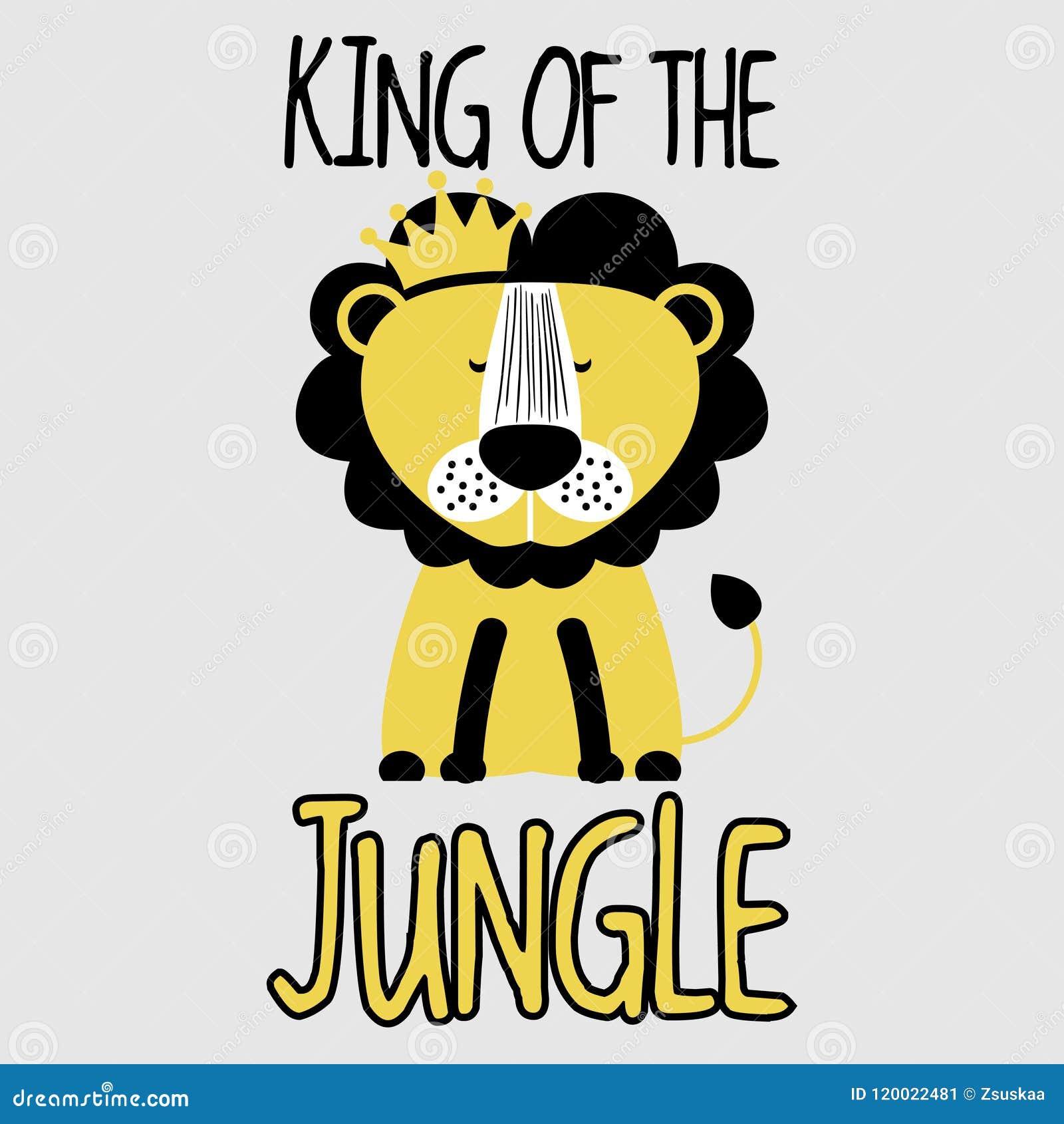 De Leeuw van koningsof the jungle