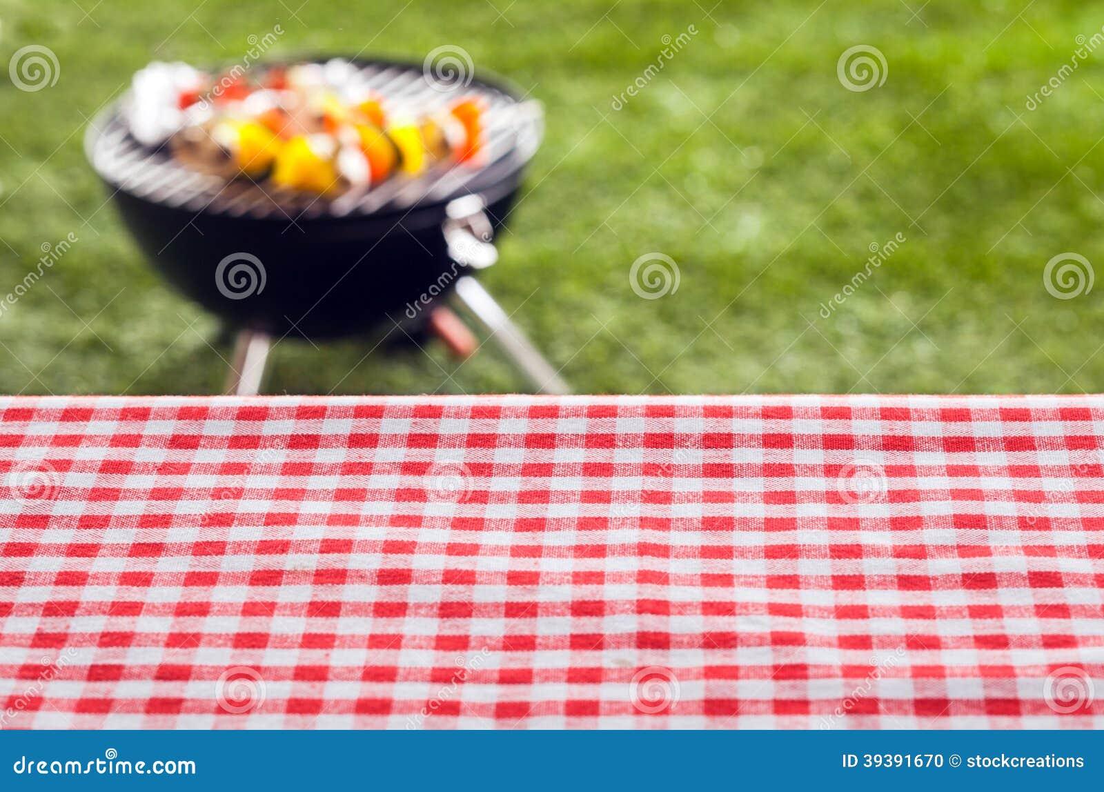De lege achtergrond van de picknicklijst