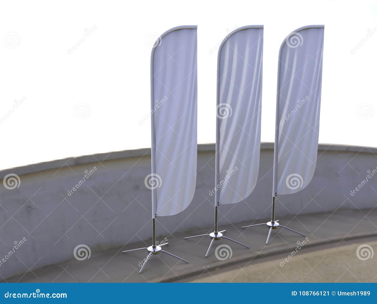 De lege witte de vlag van de convaxboog openlucht van de het strandvlag van het reclameschild banner of de verticaal windt banner