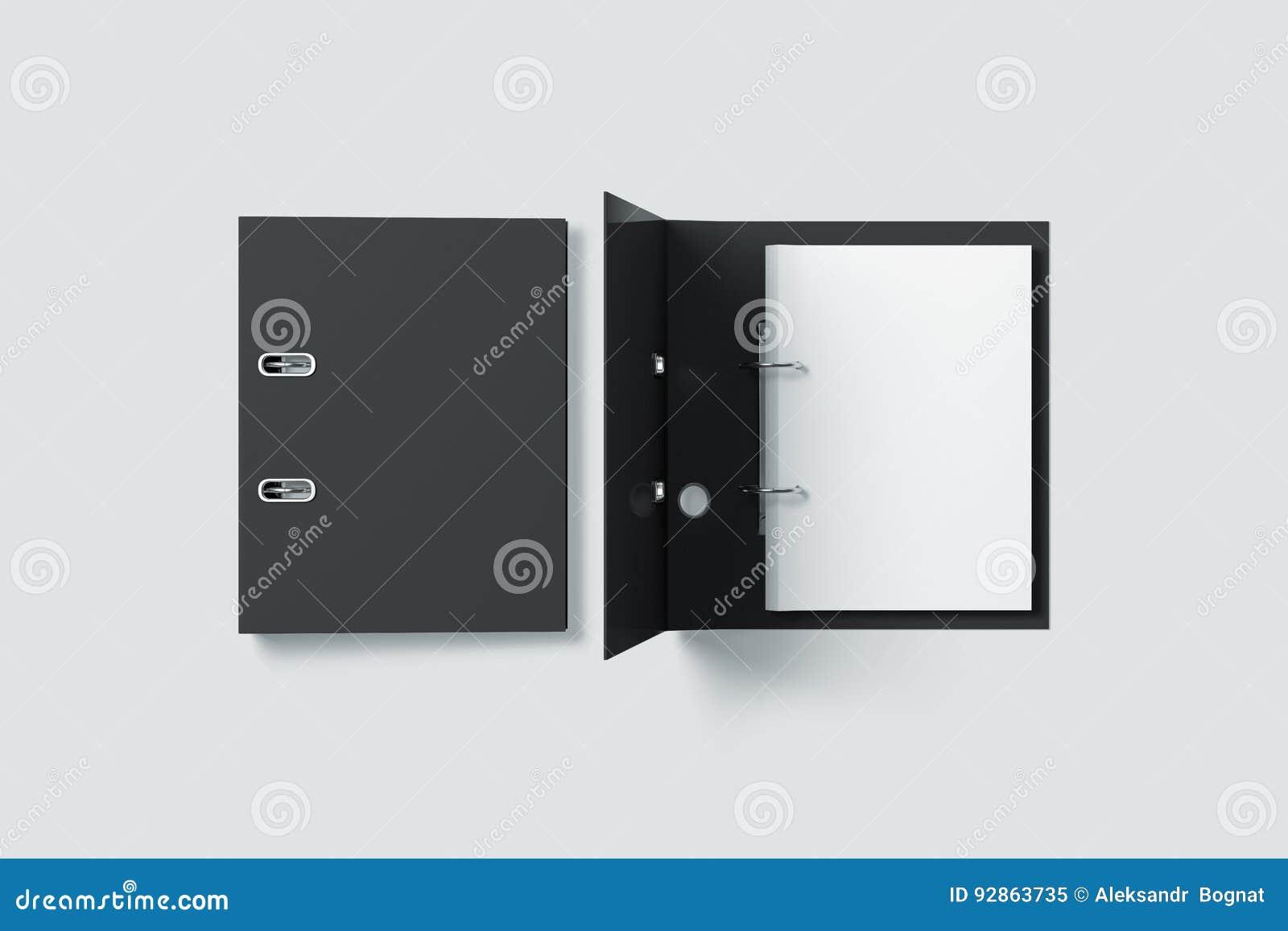 De lege zwarte spot van het de omslagontwerp van het ringsbindmiddel op hoogste mening